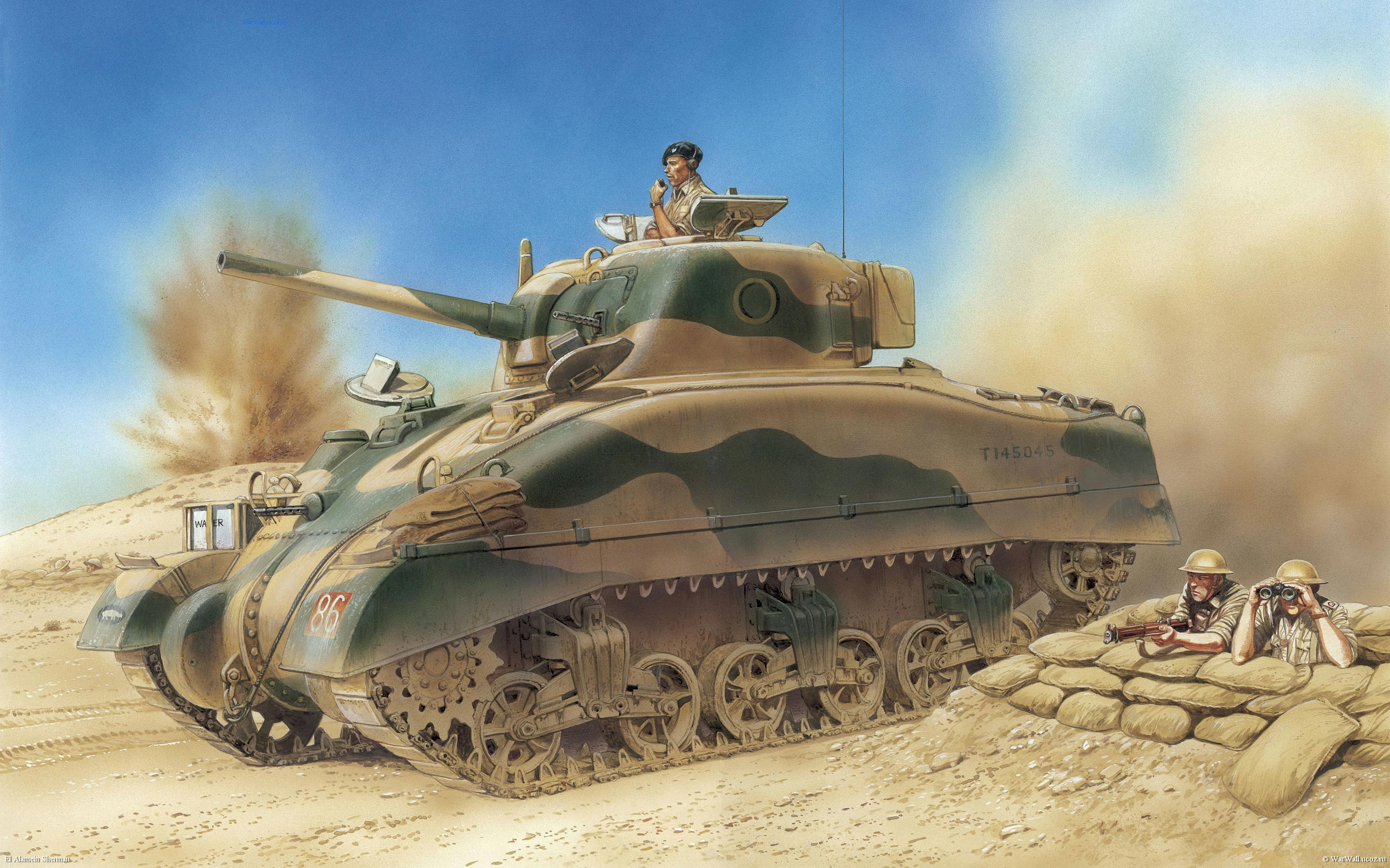 рисунок 6447 El Alamein Sherman