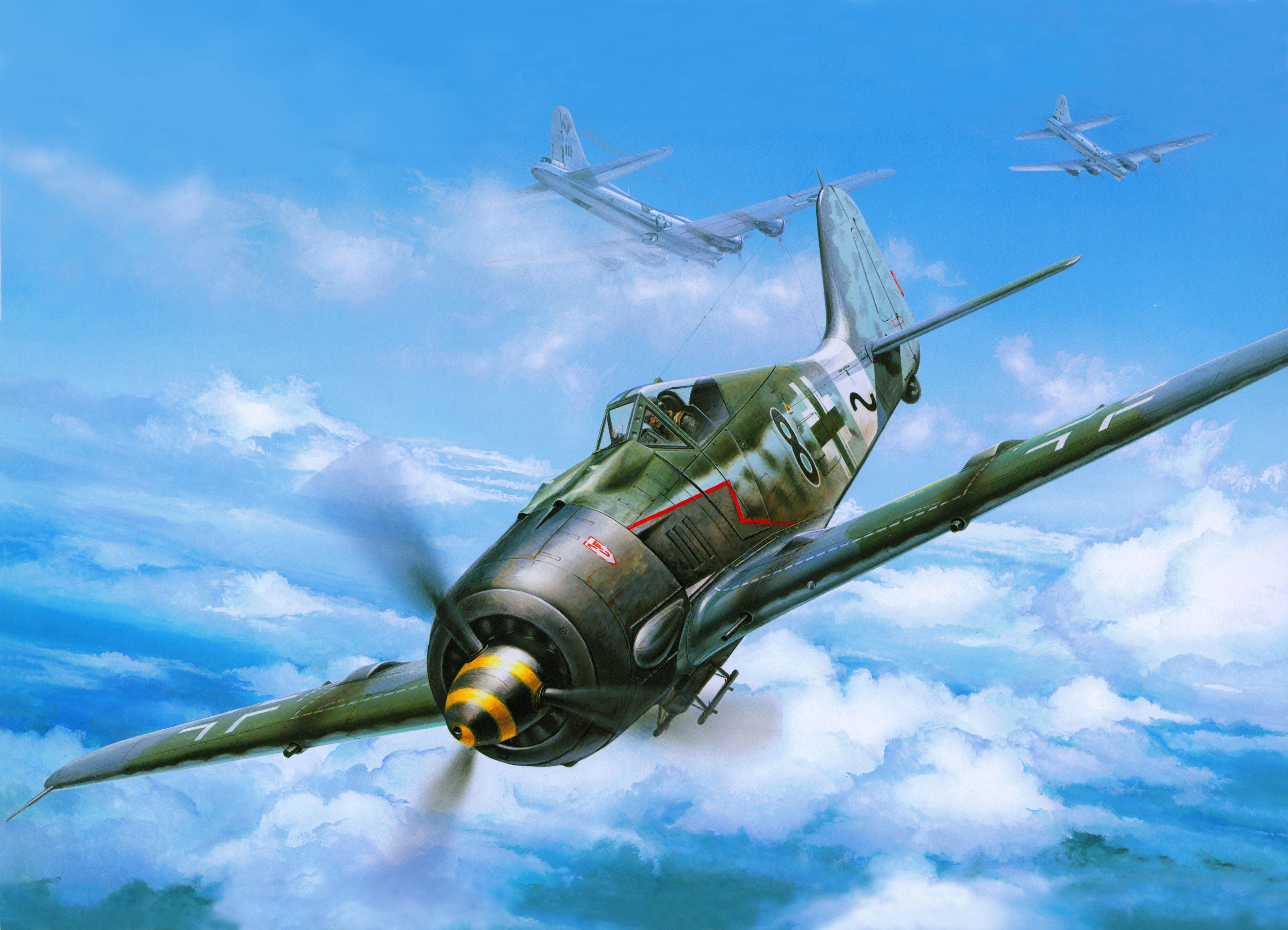 рисунок 61095 Истребитель Fw-190A-8