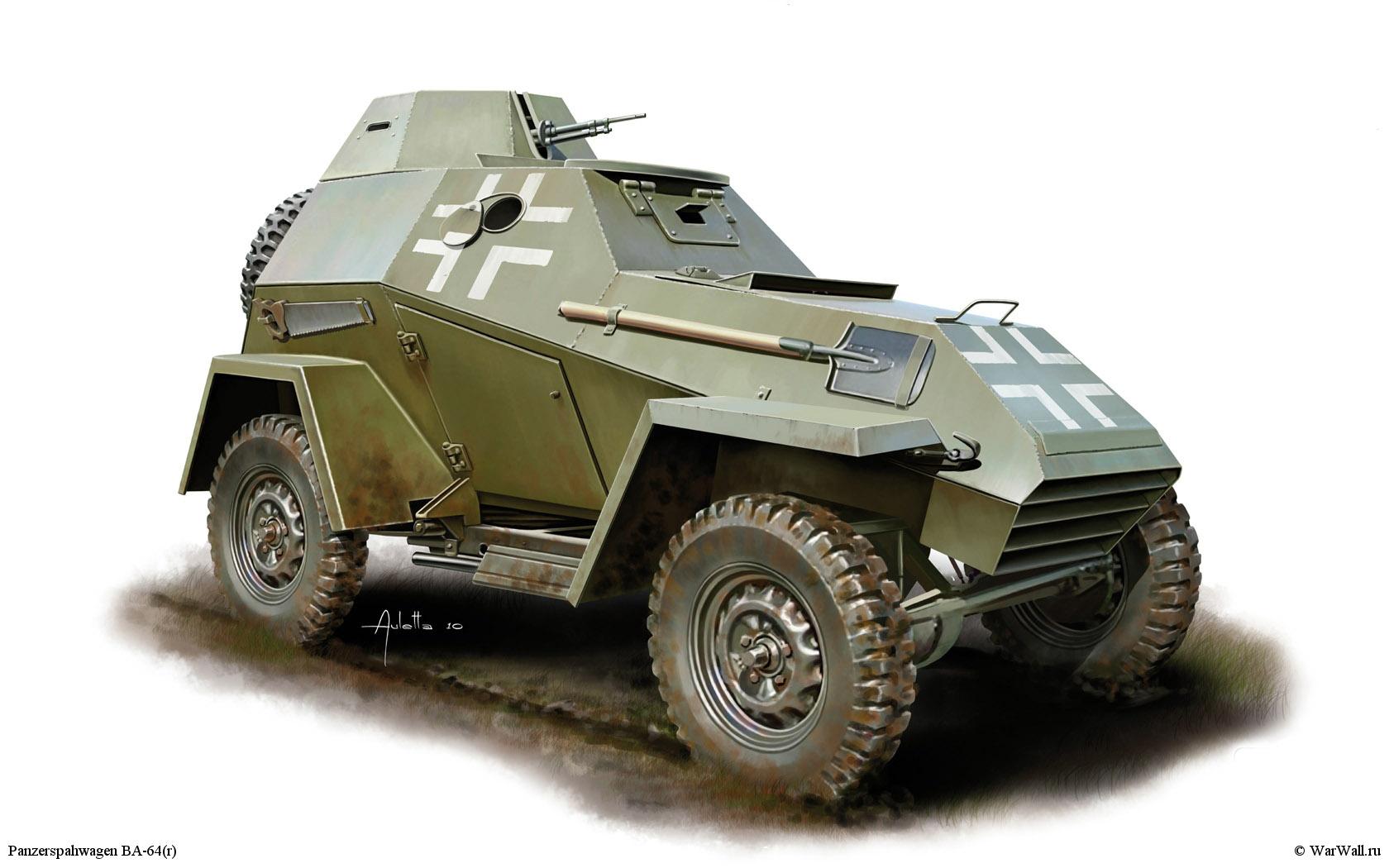 рисунок 35110 Panzerspahwagen BA-64(r)