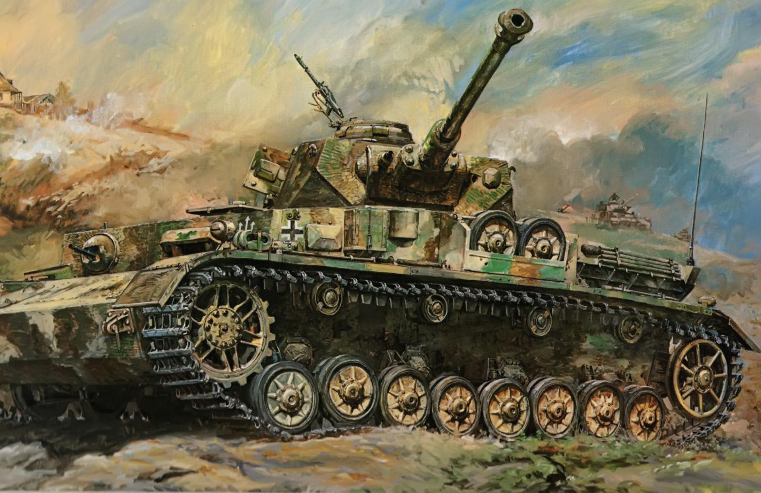 рисунок Танк Panzer IV