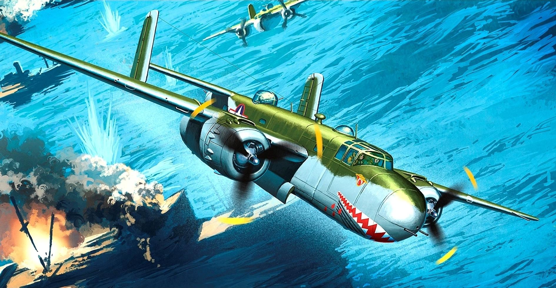 рисунок B-25G Shark Mouth