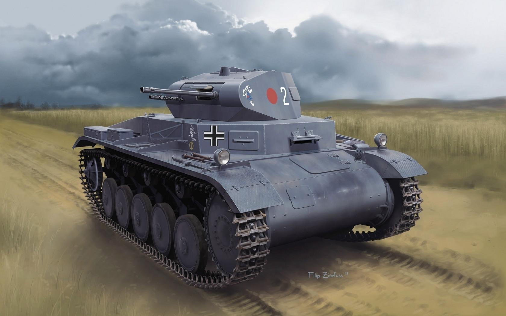 рисунок Pz.Kpfw.II Ausf.A