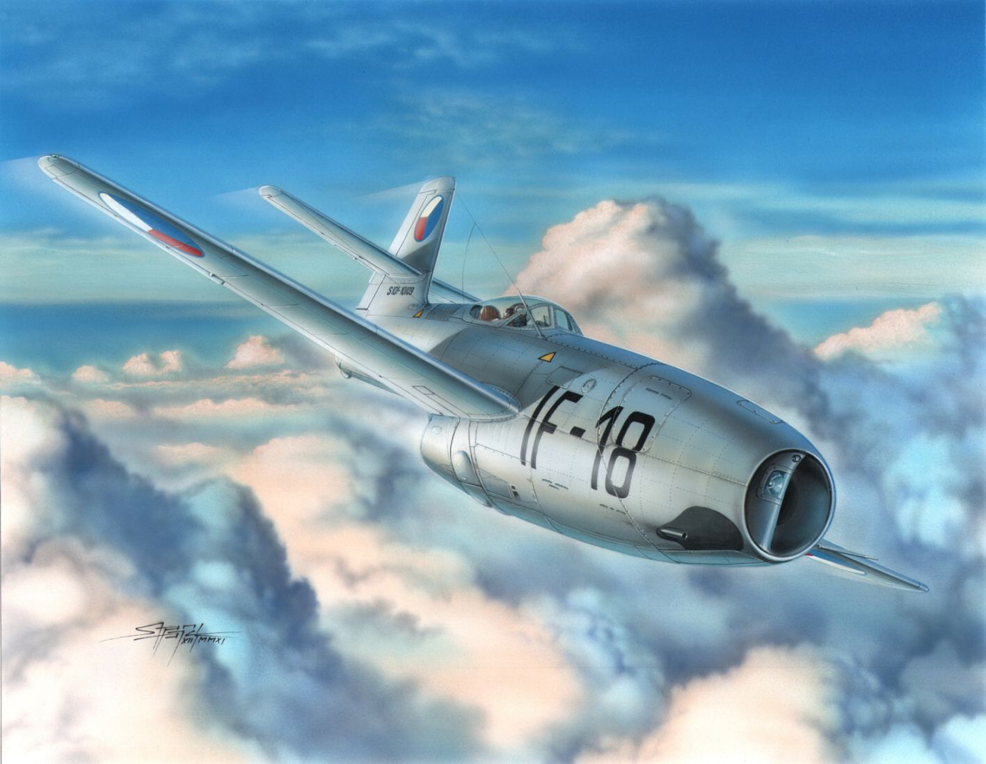рисунок Чешский Як-23