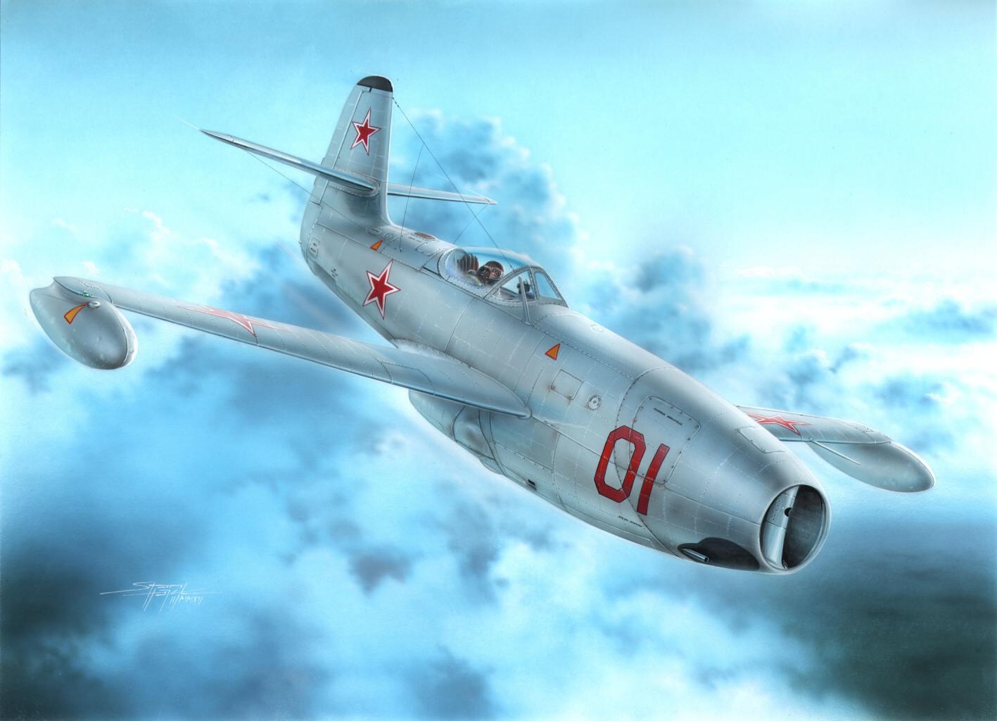 рисунок Истребитель Як-23