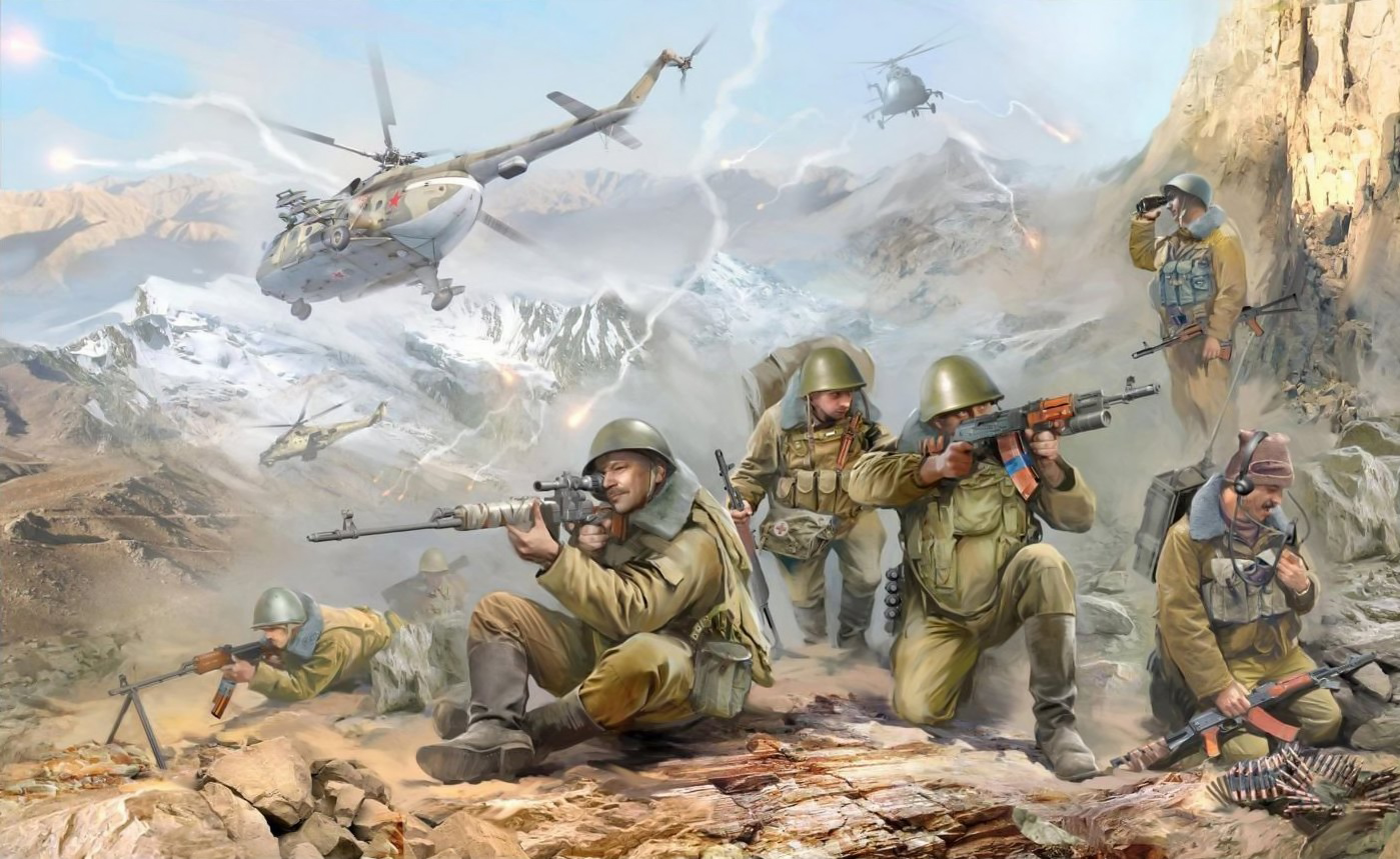 рисунок Советские десантники