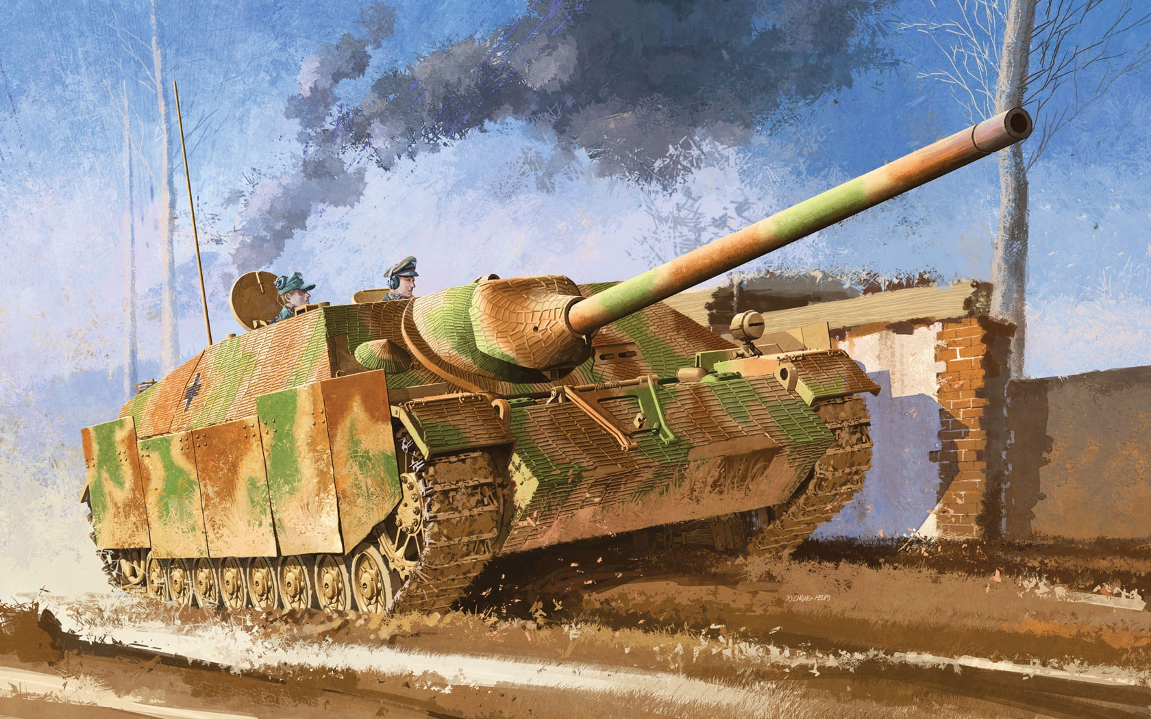 рисунок Jagdpanzer IV L/70(V) w/Zimmerit