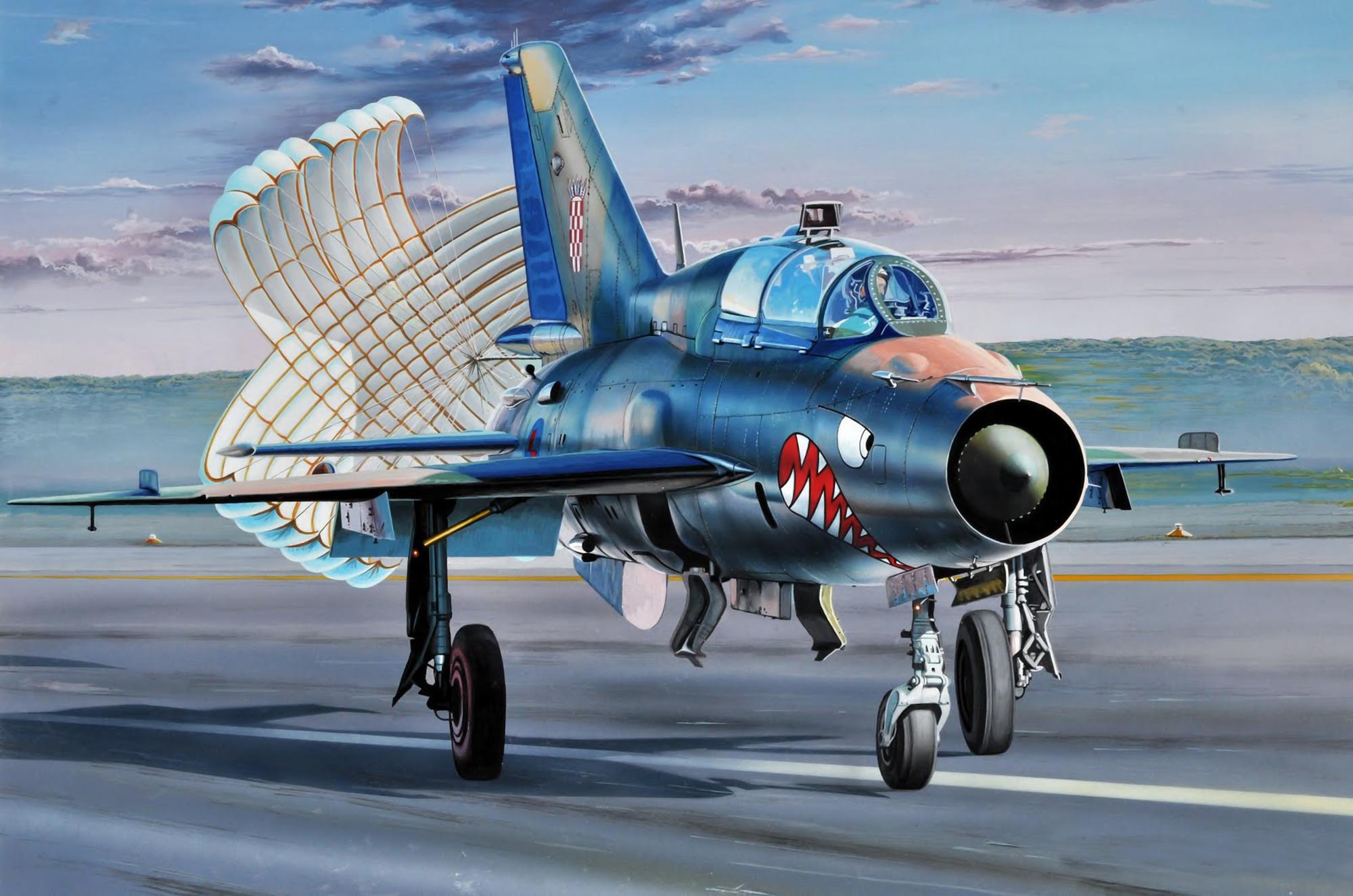 рисунок МиГ-21 ВВС Хорватии