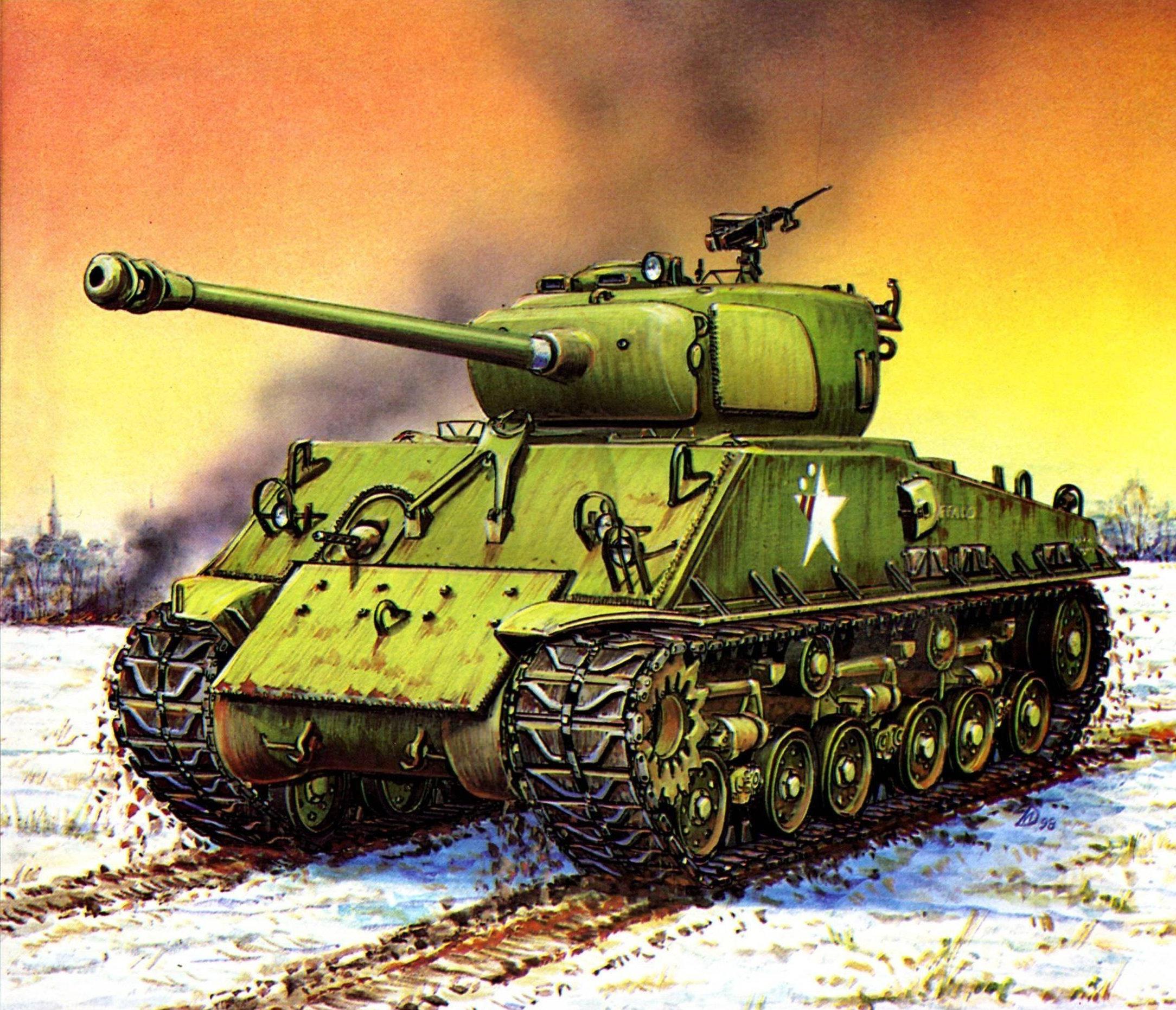 рисунок M4A3E8 Sherman
