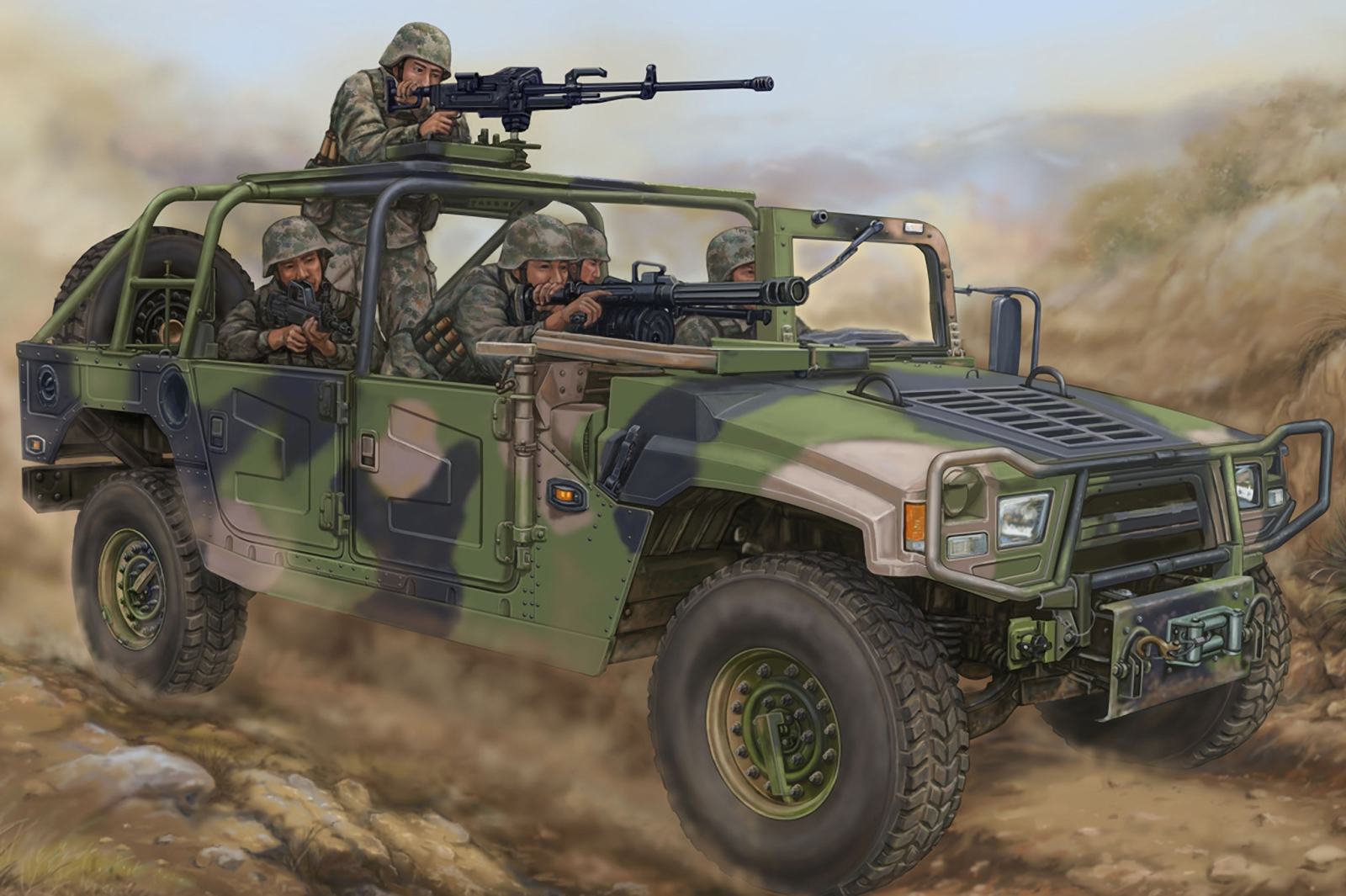 рисунок Meng Shi 1.5 ton Military Light Utility Vehicle