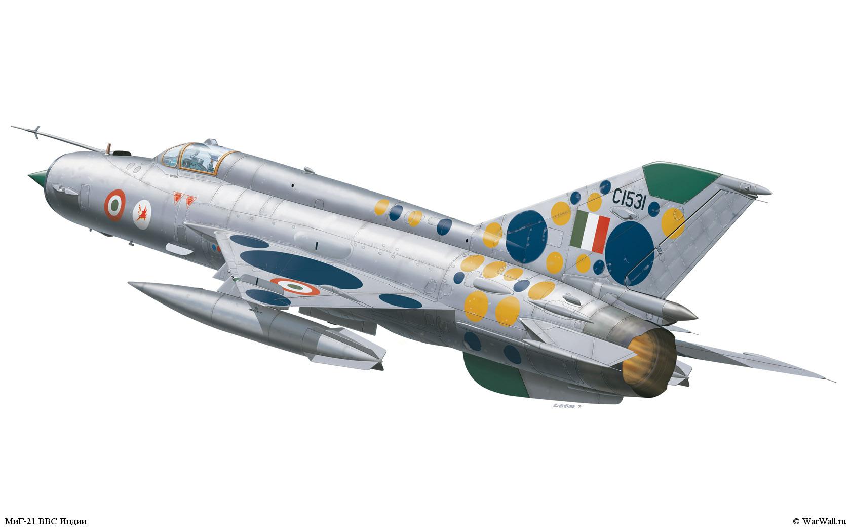 рисунок 1171 МиГ-21 ВВС Индии