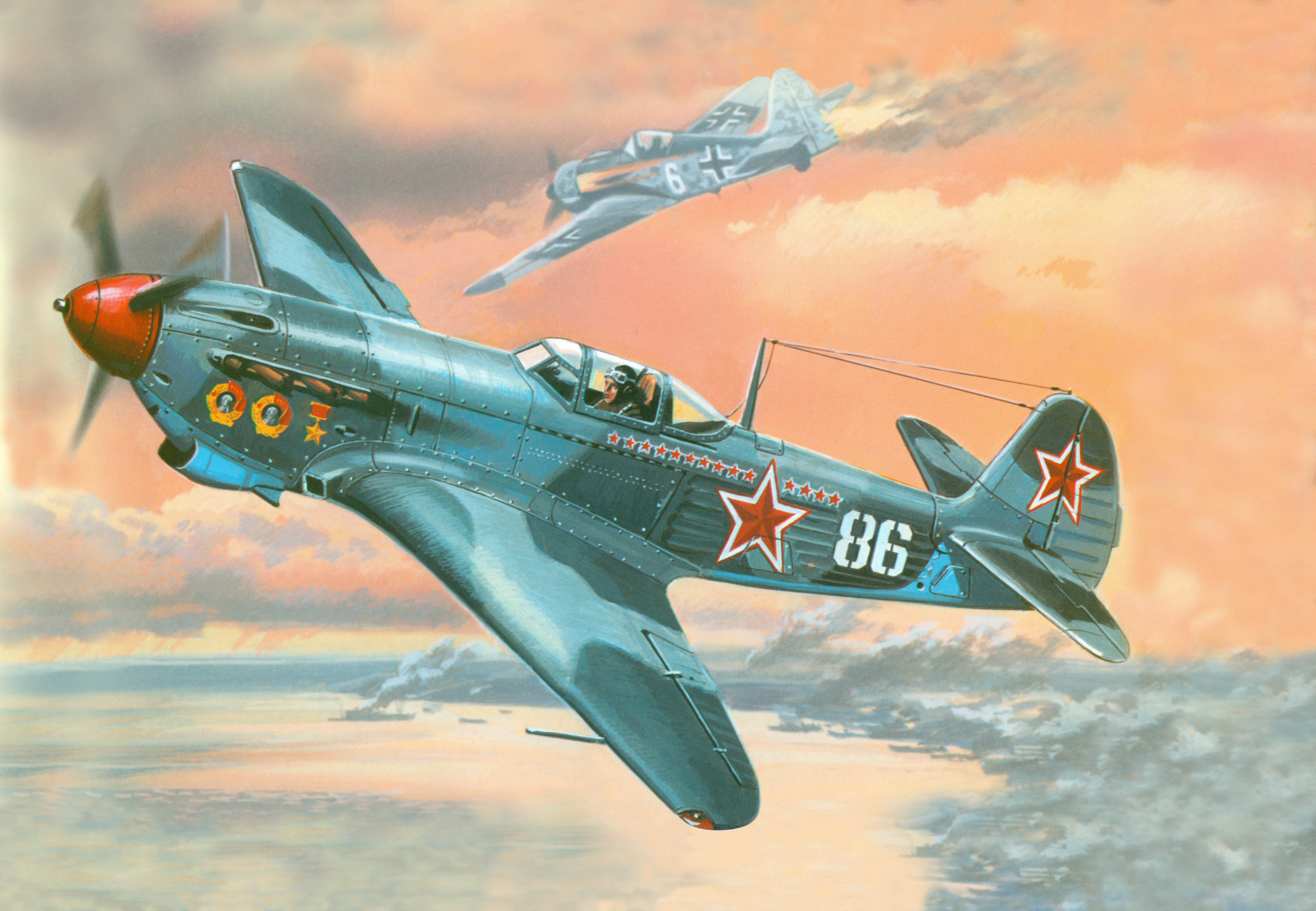 рисунок 48002 Яковлев Як-9ДД