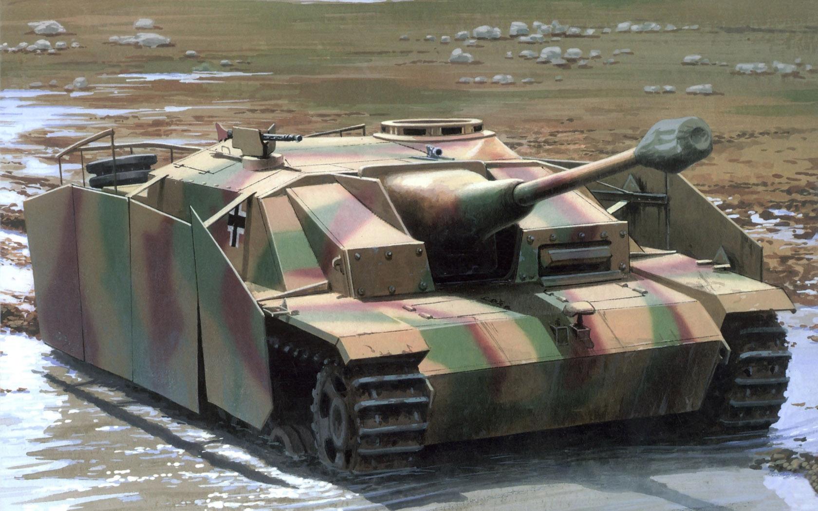 рисунок Sturmgeschutz III Ausf G