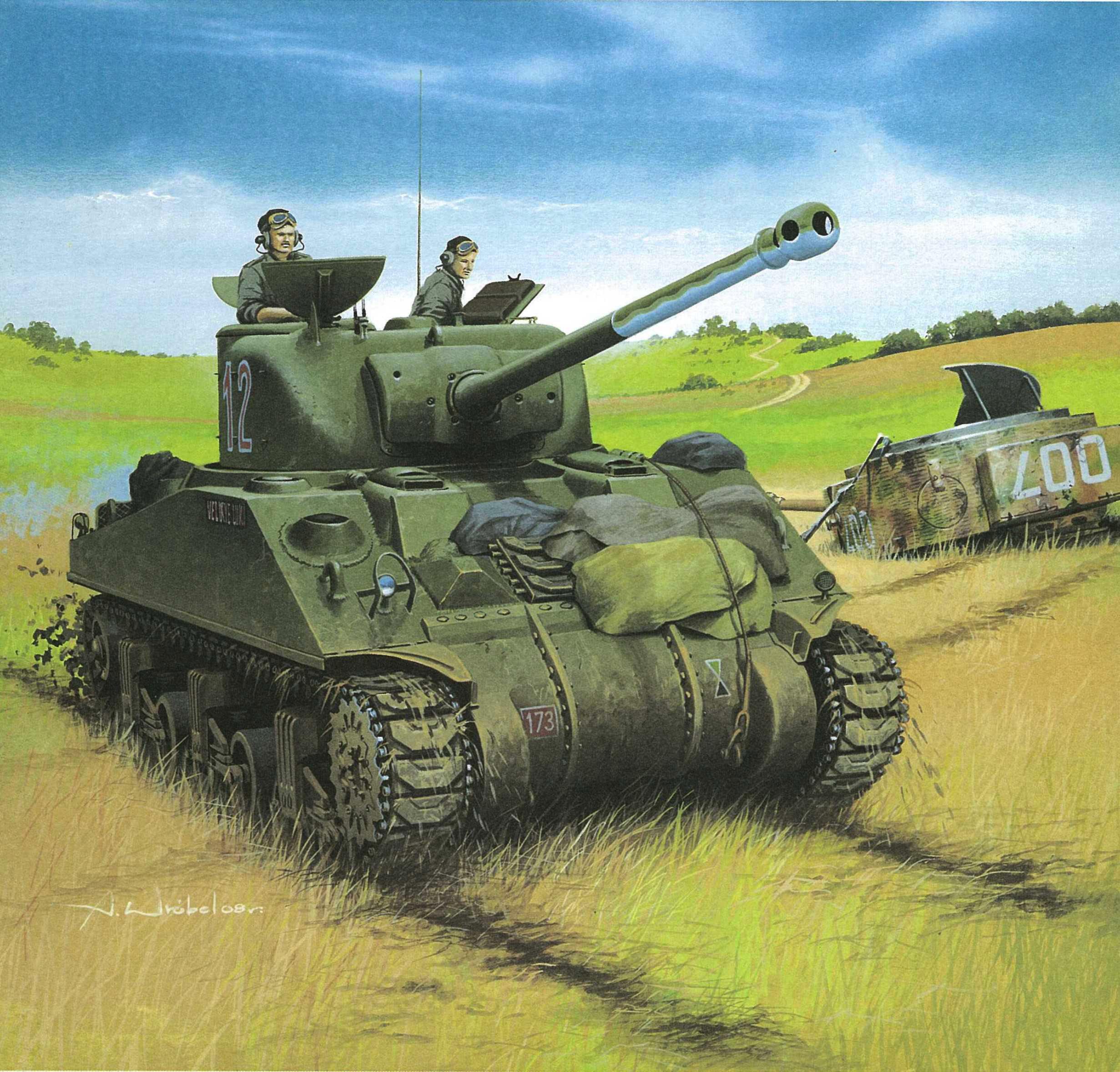 рисунок M4A4 Sherman Vc Firefly