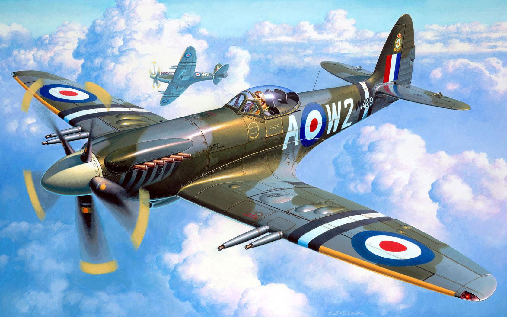 рисунок Supermarine Spitfire Mk.22/24