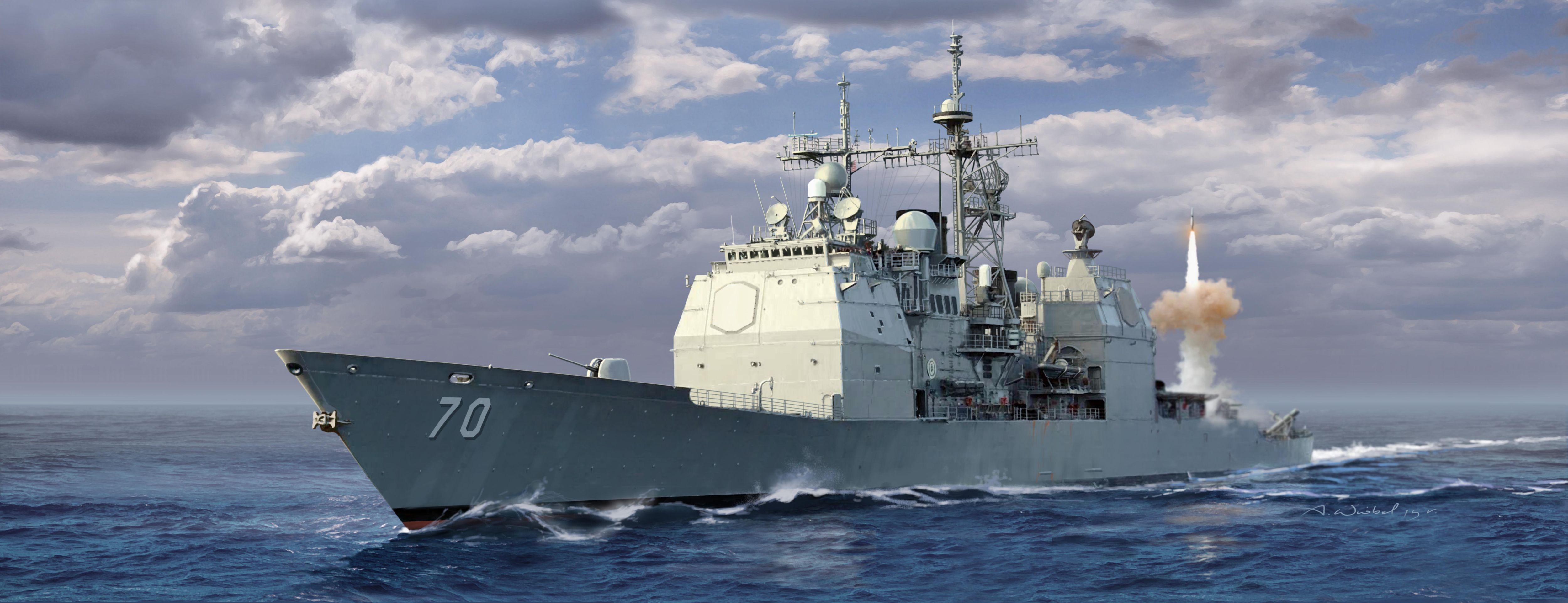 рисунок U.S.S. Lake Erie CG-70