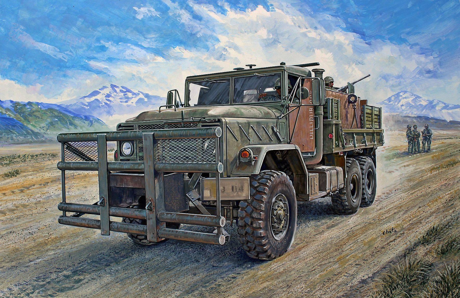 "рисунок M923 ""Hillbilly"" Gun Truck"