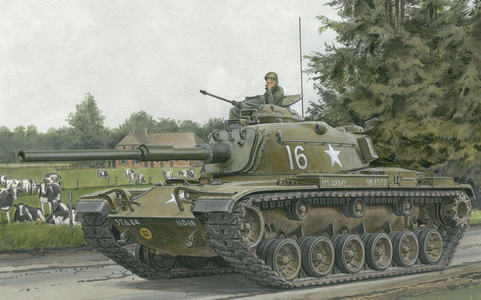 "рисунок M60 ""Patton"""