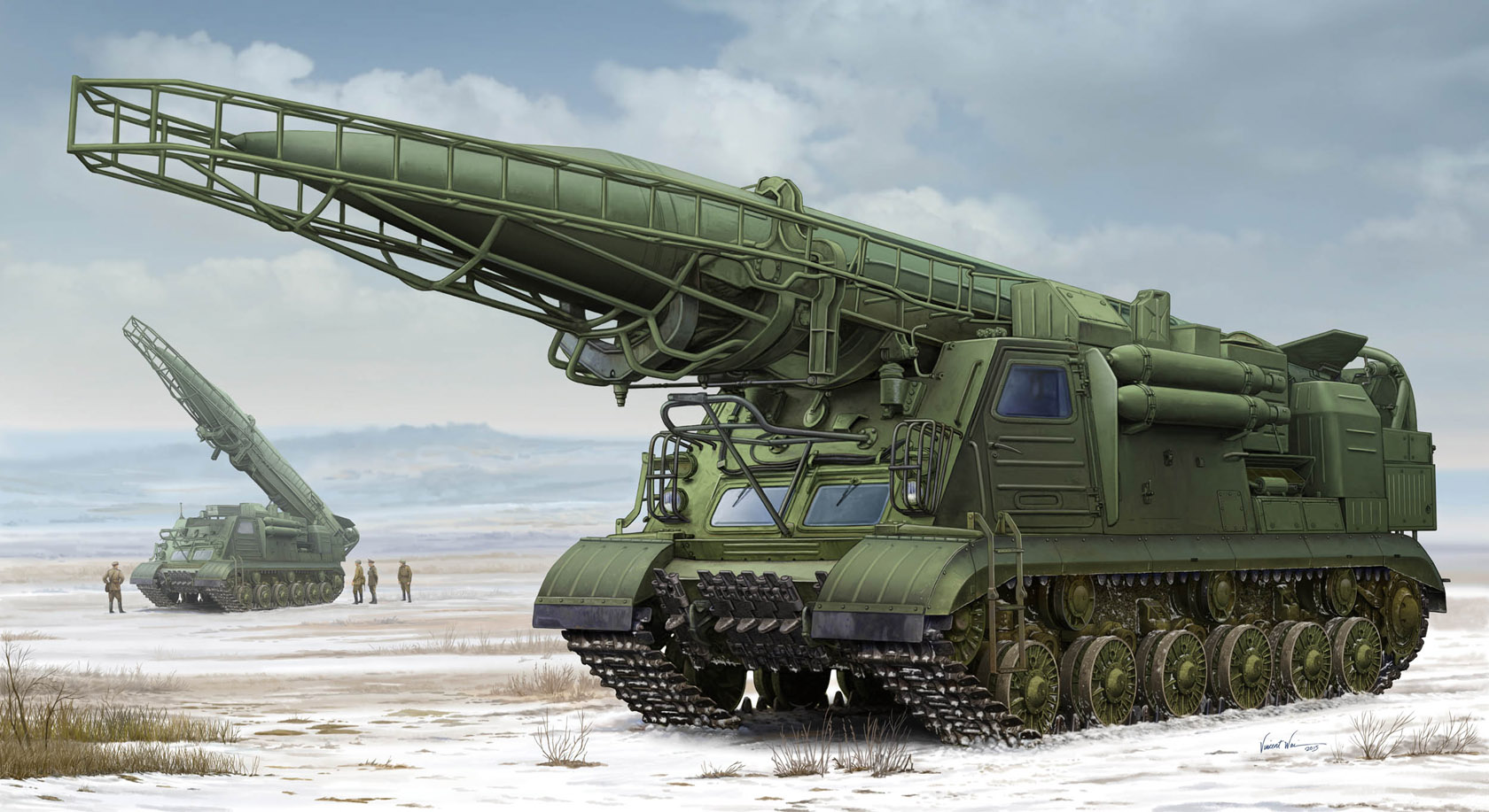 рисунок 2P19 w/R-17 Missile of 8K14