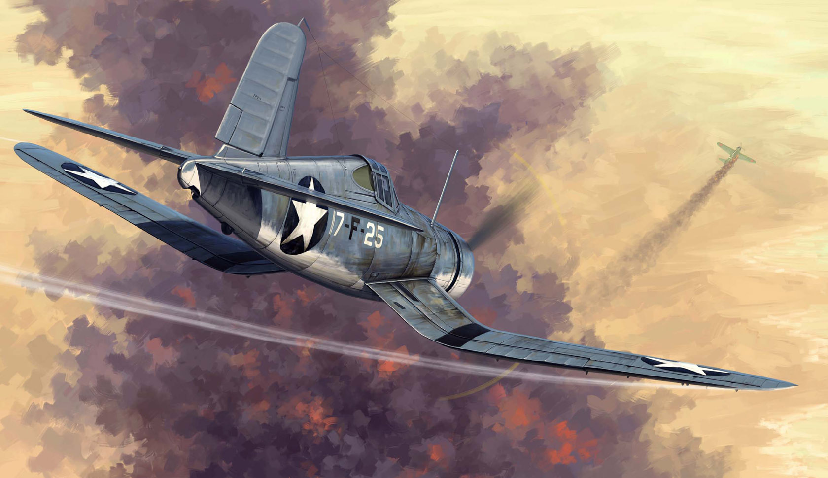 рисунок F4U-1 Corsair Early version