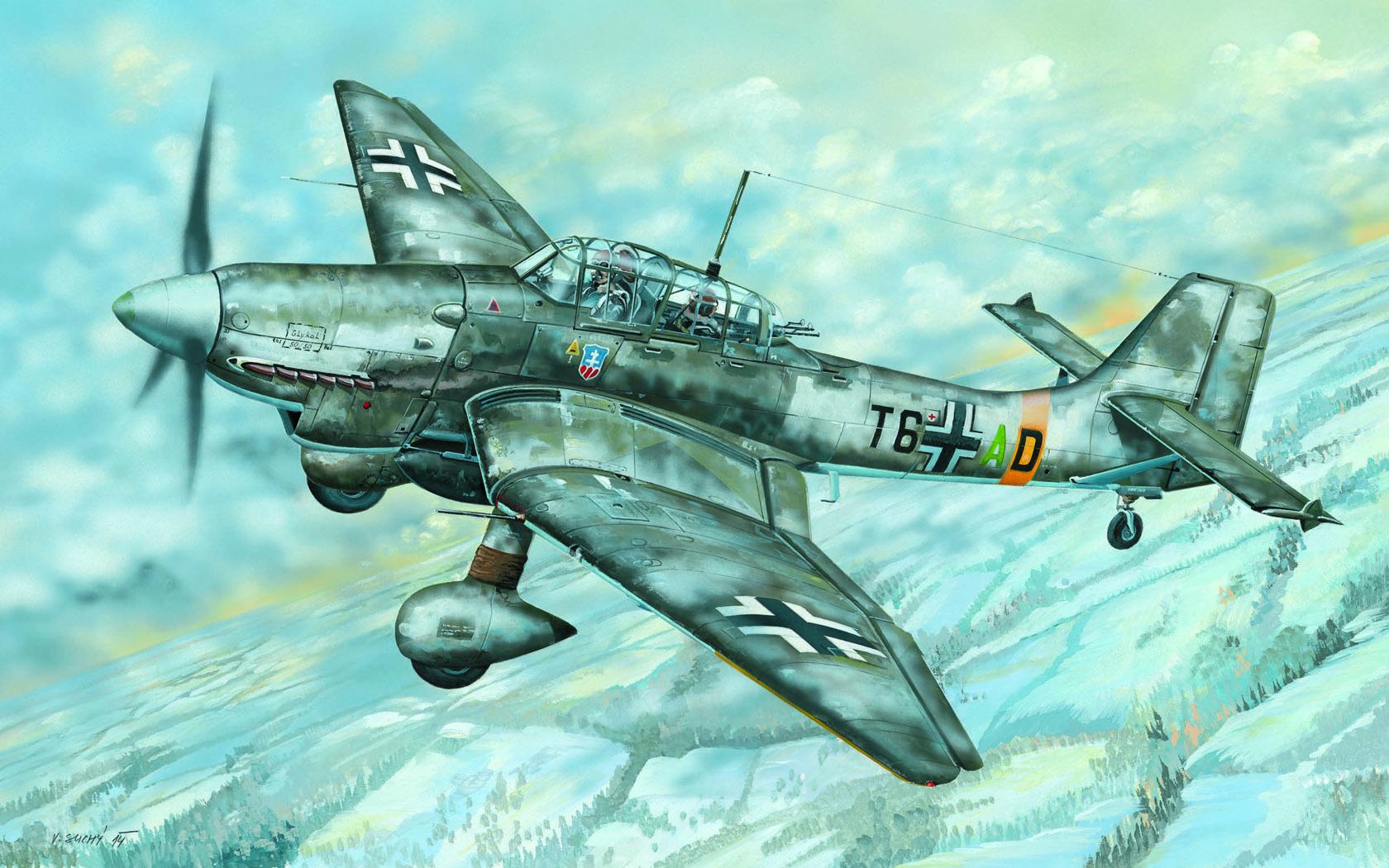 рисунок Ju-87D