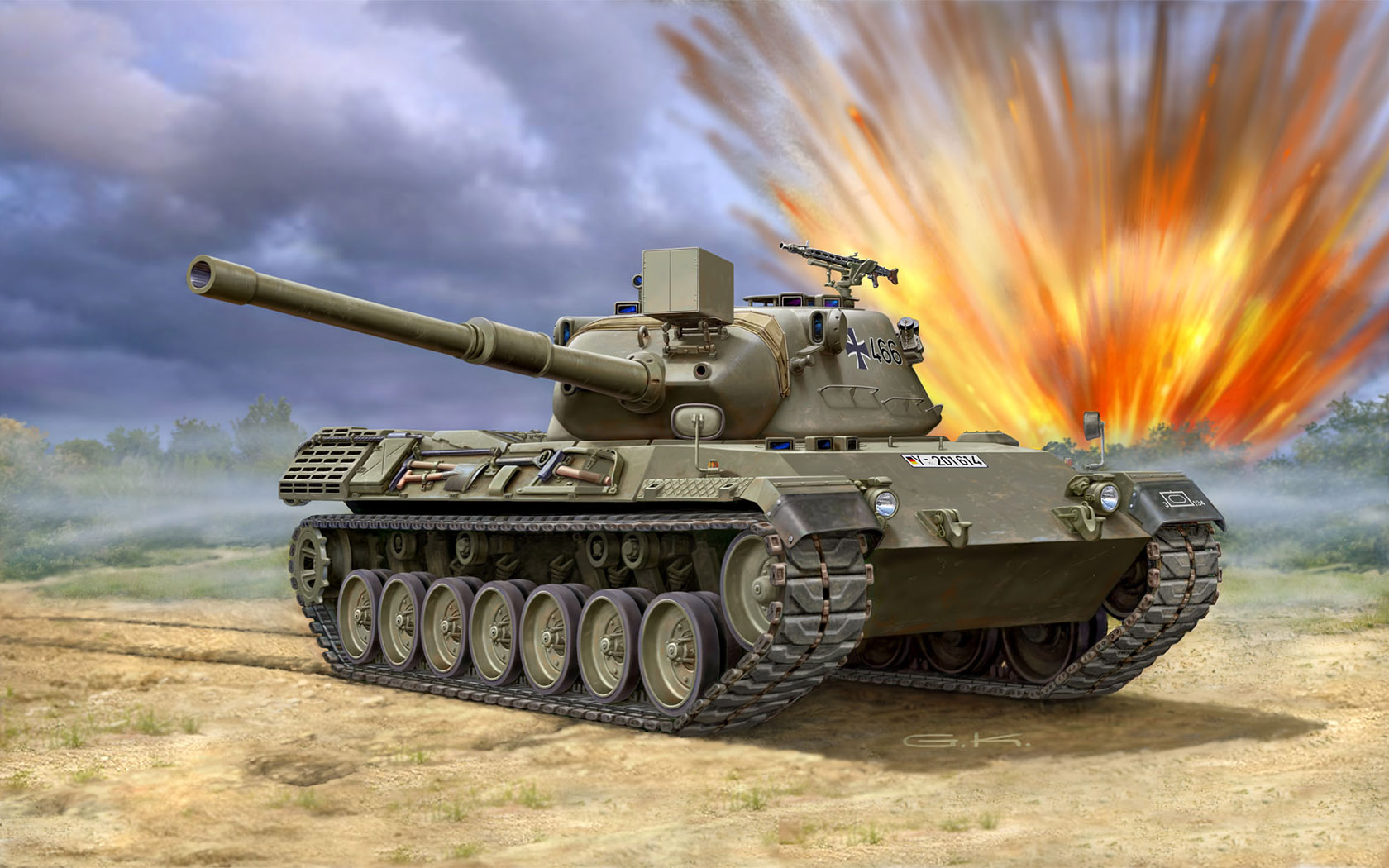 рисунок Leopard 1