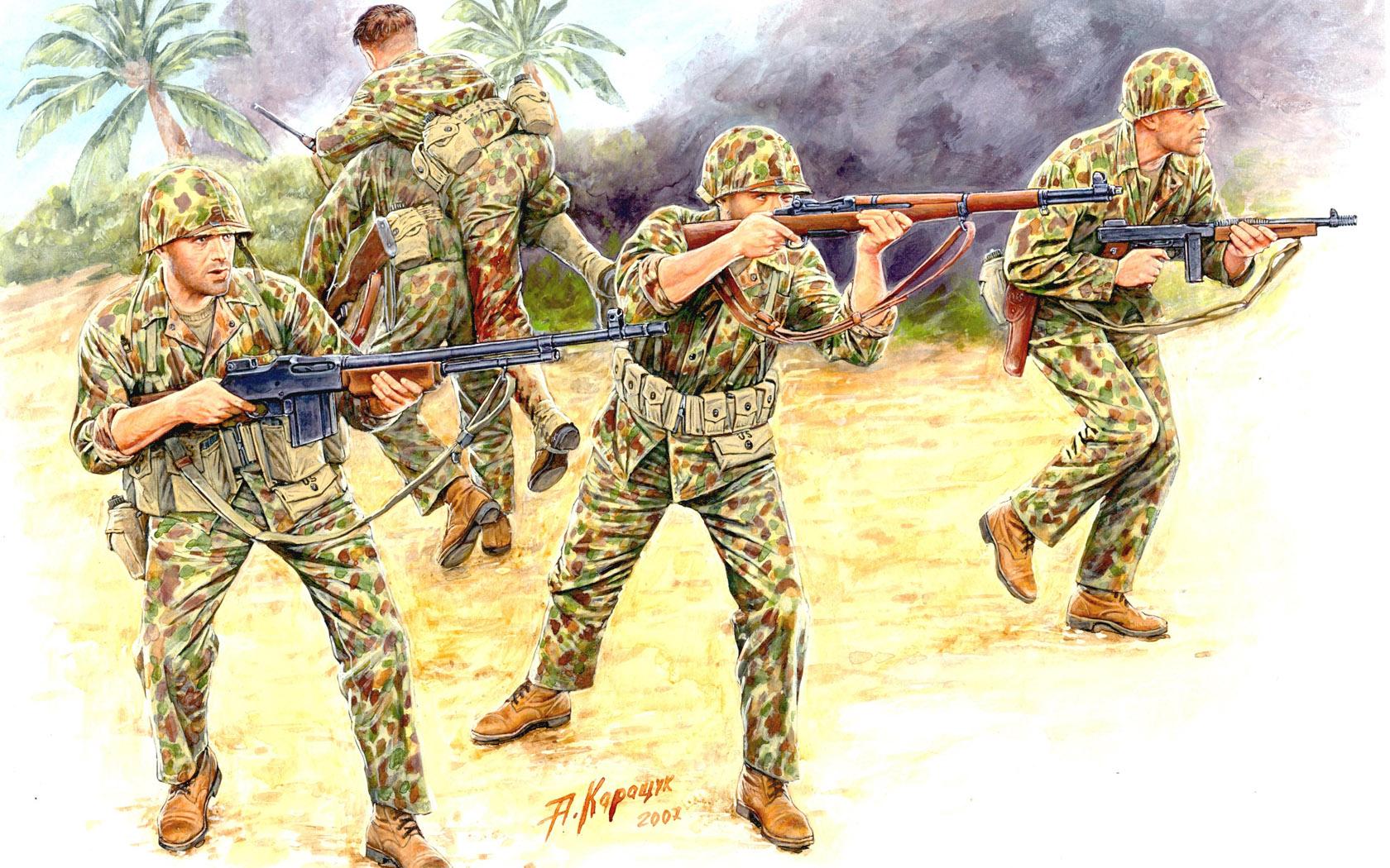 рисунок US Marine Corps Infantry