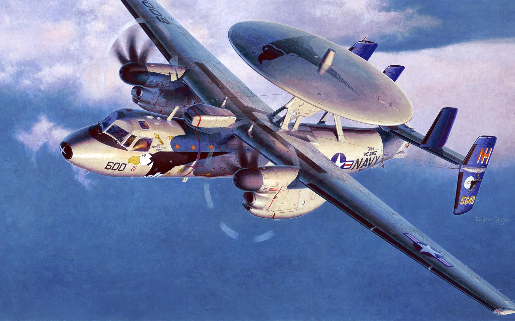 рисунок Grumman E2C Hawkeye 2000