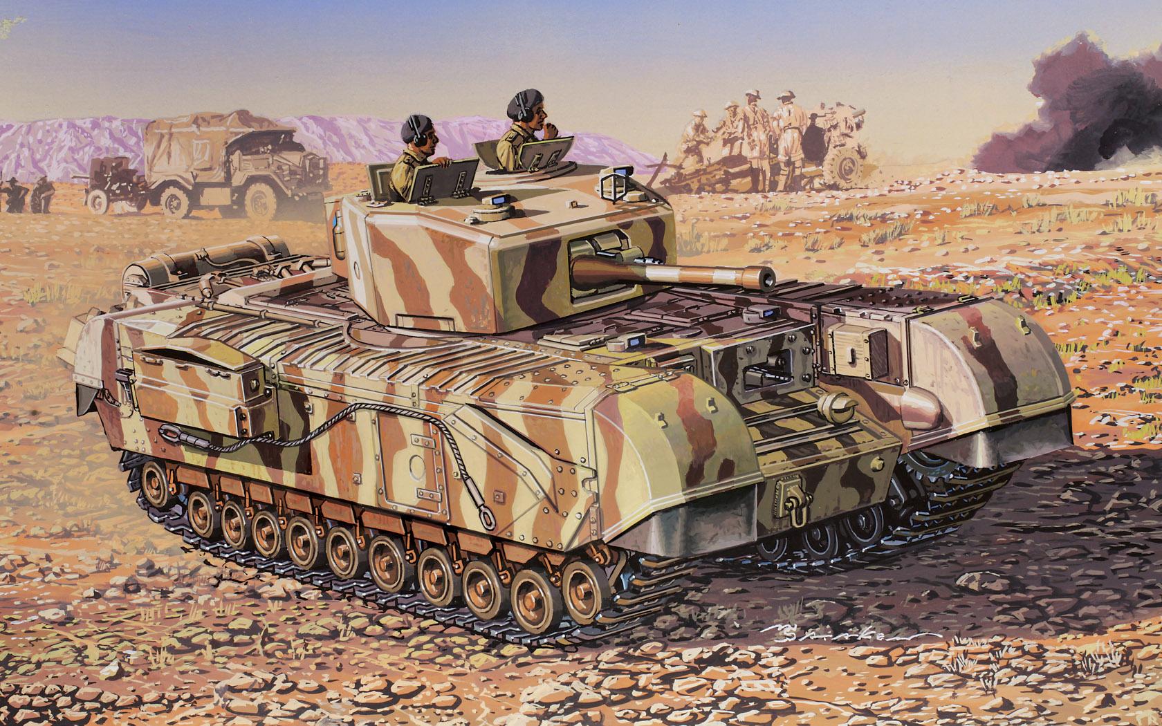 рисунок Churchill Mk. III