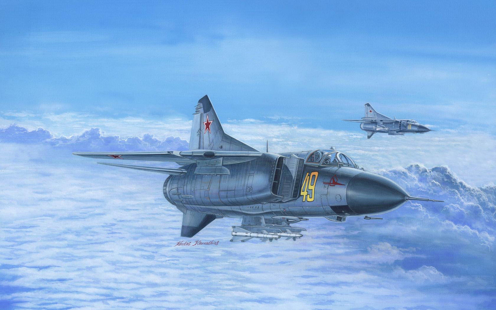 рисунок MiG-23M Flogger B