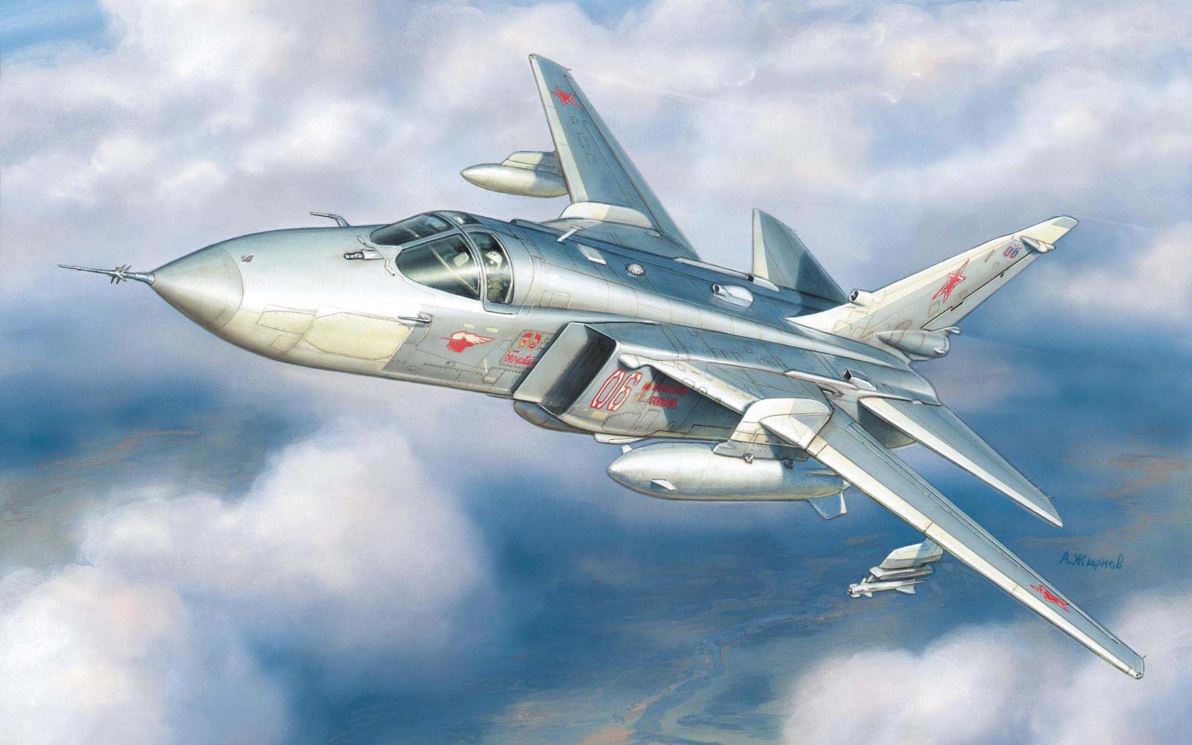 рисунок разведчик Су-24МР