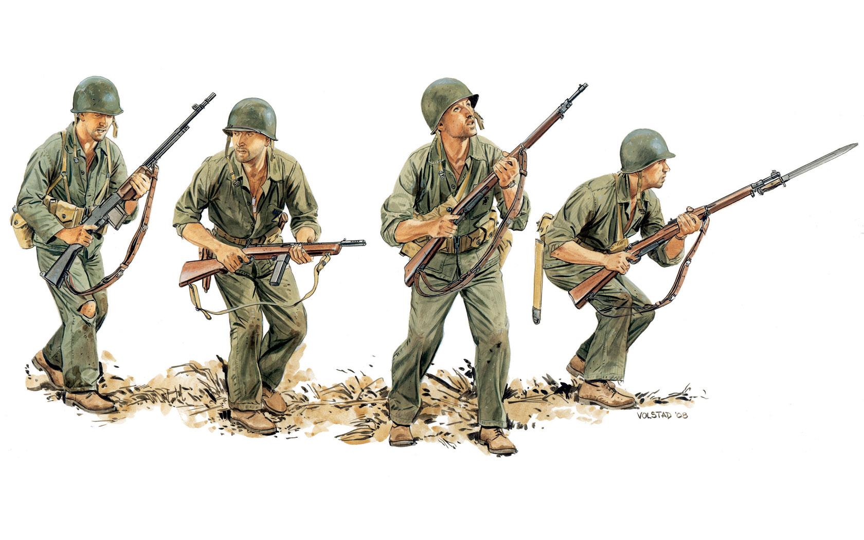 рисунок U.S.Marines, Guadalcanal 1942