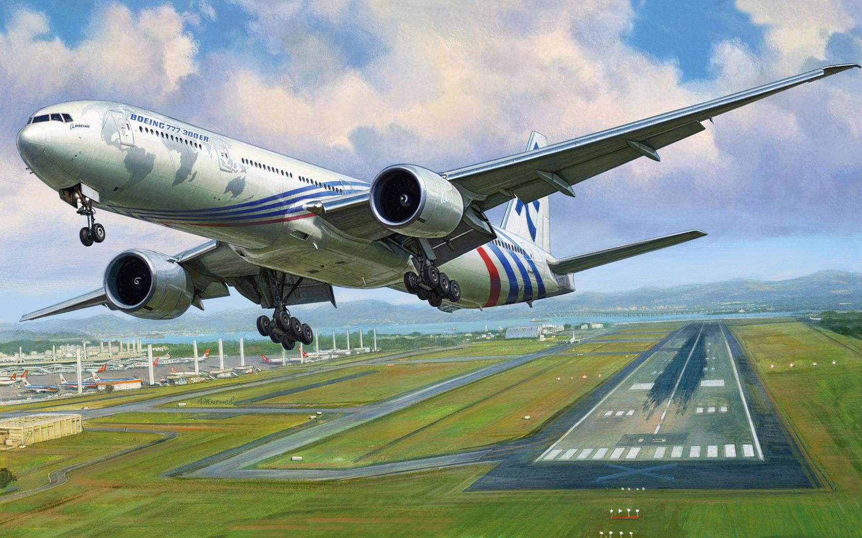 рисунок Боинг 777-300 ER