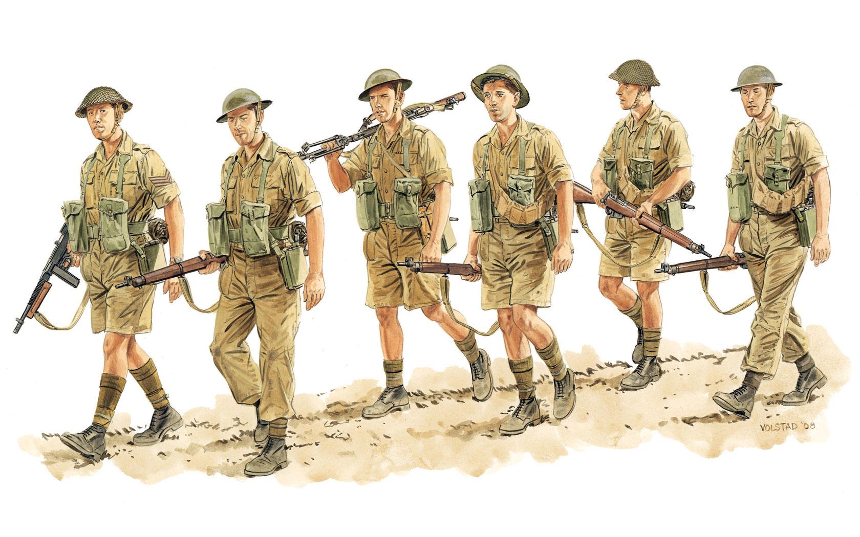 рисунок Commonwealth Infantry, Italy 1943