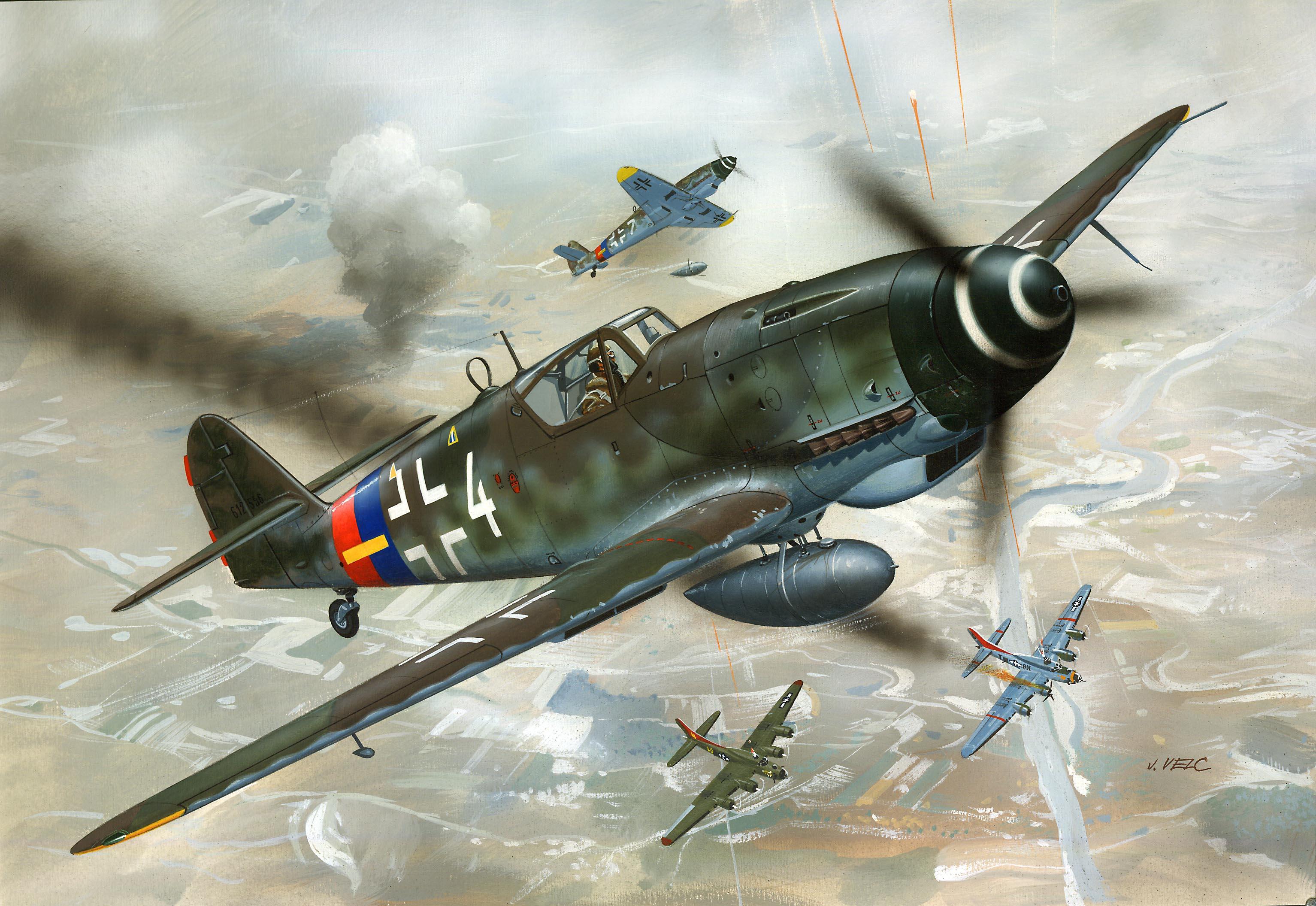 рисунок Bf-109 G-10