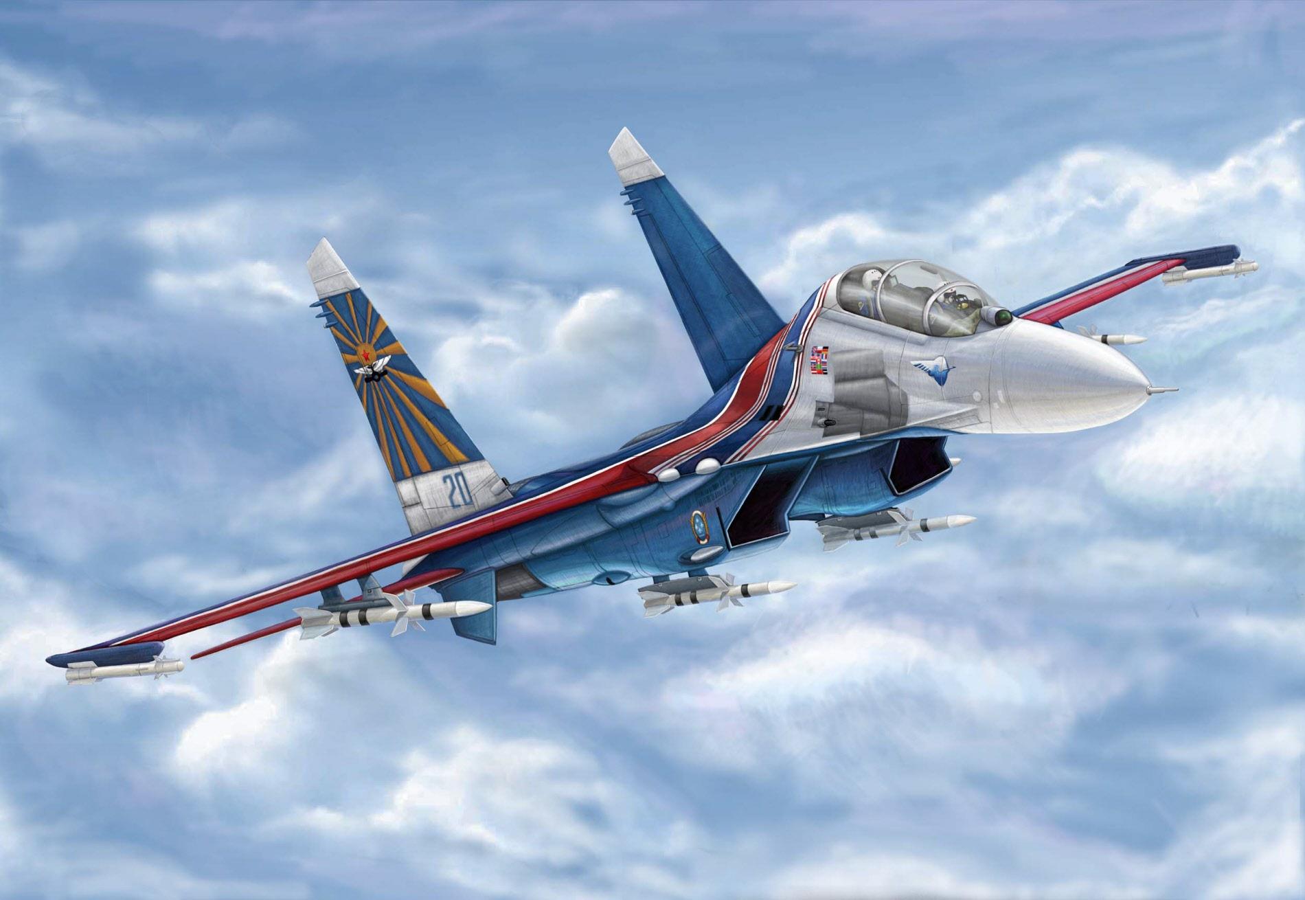рисунок Су-27УБ