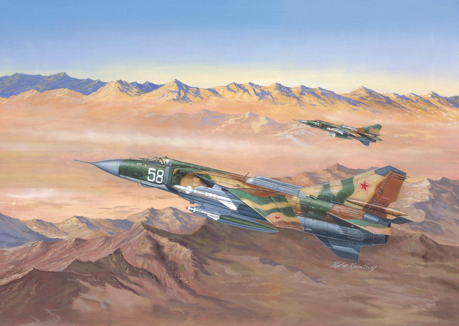 рисунок МиГ-23МЛД