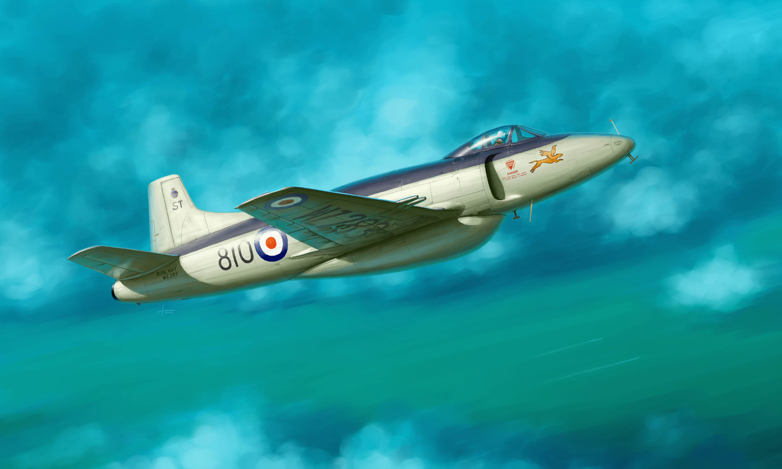 рисунок Supermarine Attacker FB.2