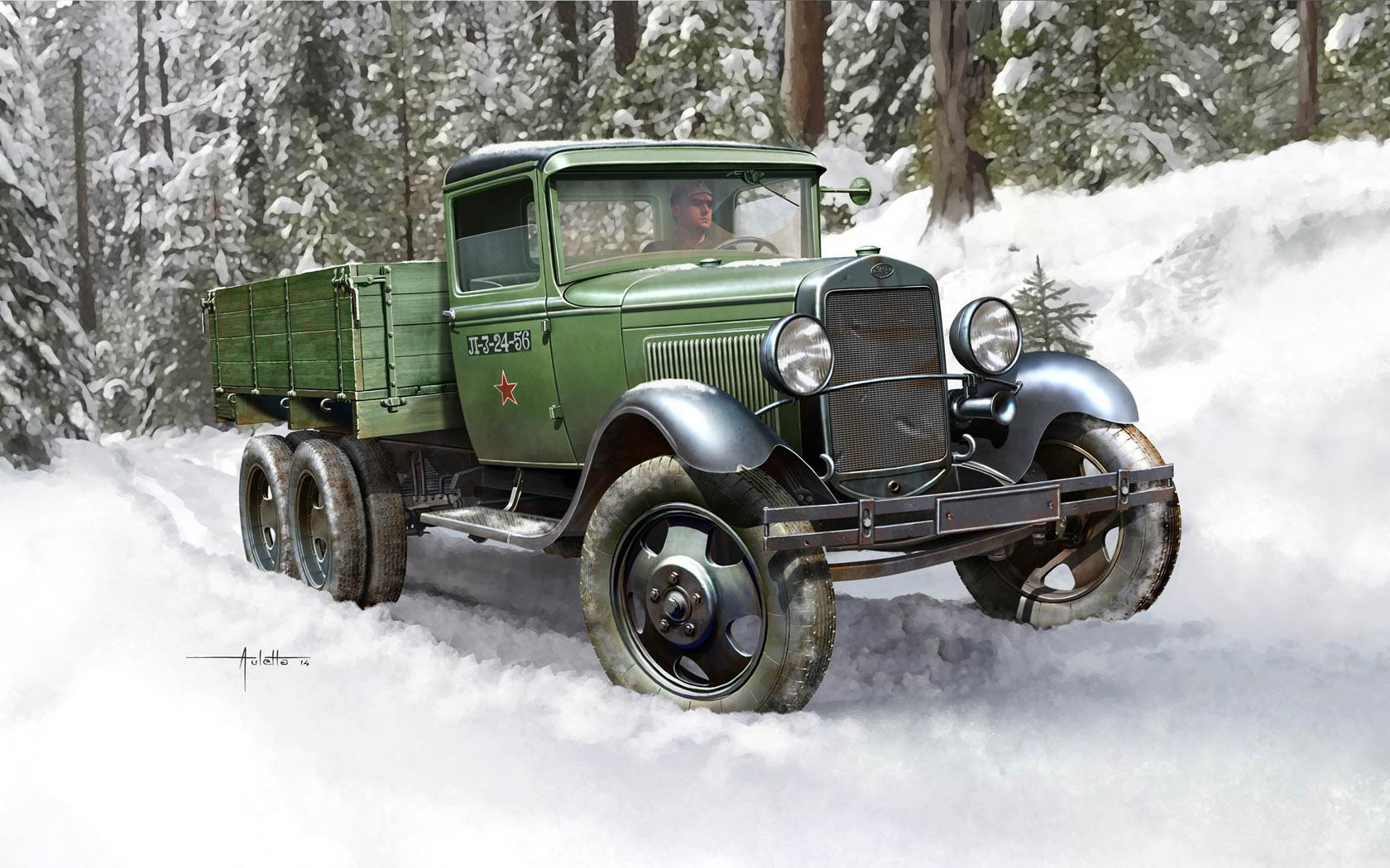 рисунок грузовик ГаЗ-ААА