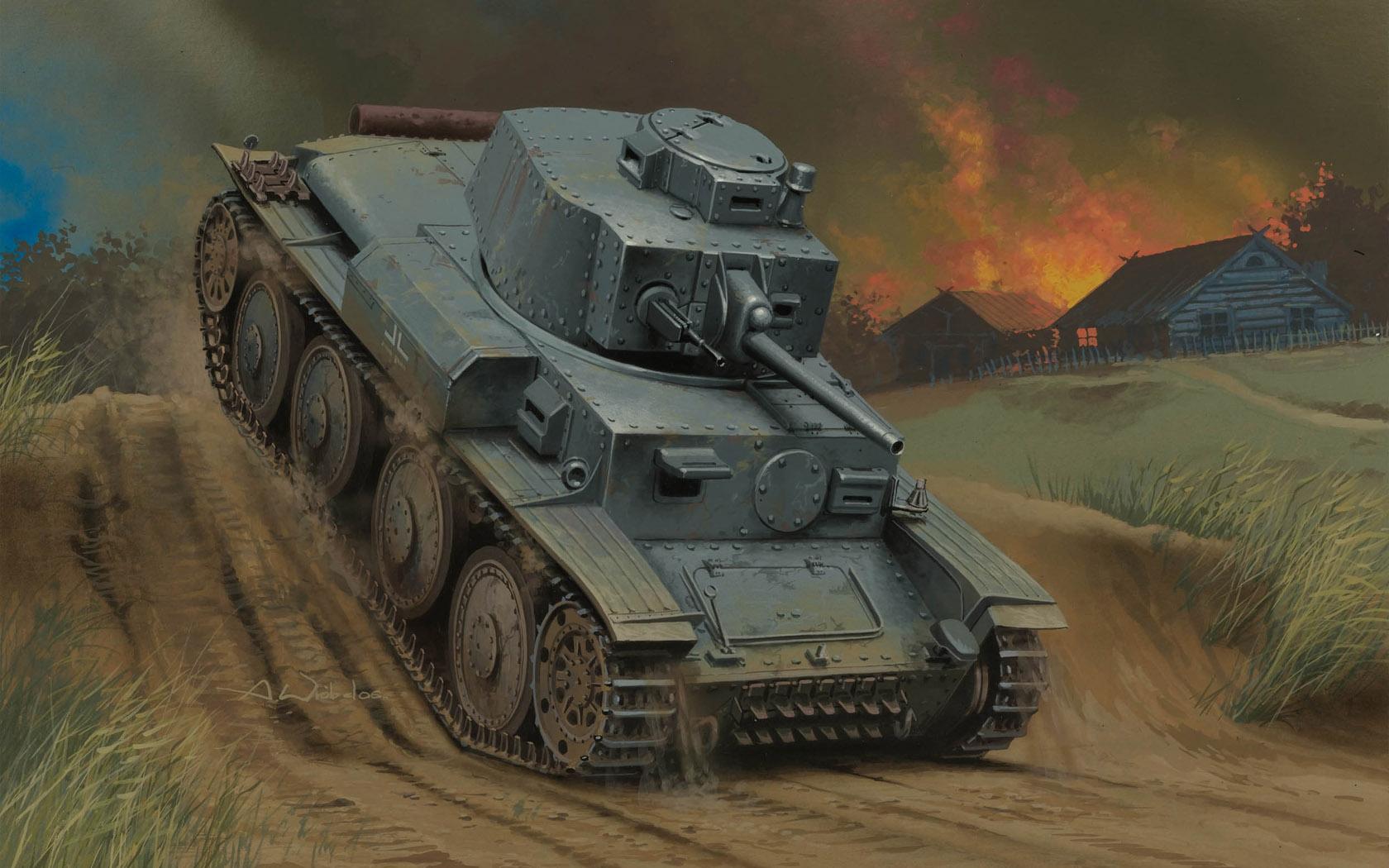 рисунок German Pz.Kpfw. 38(t) Ausf. G