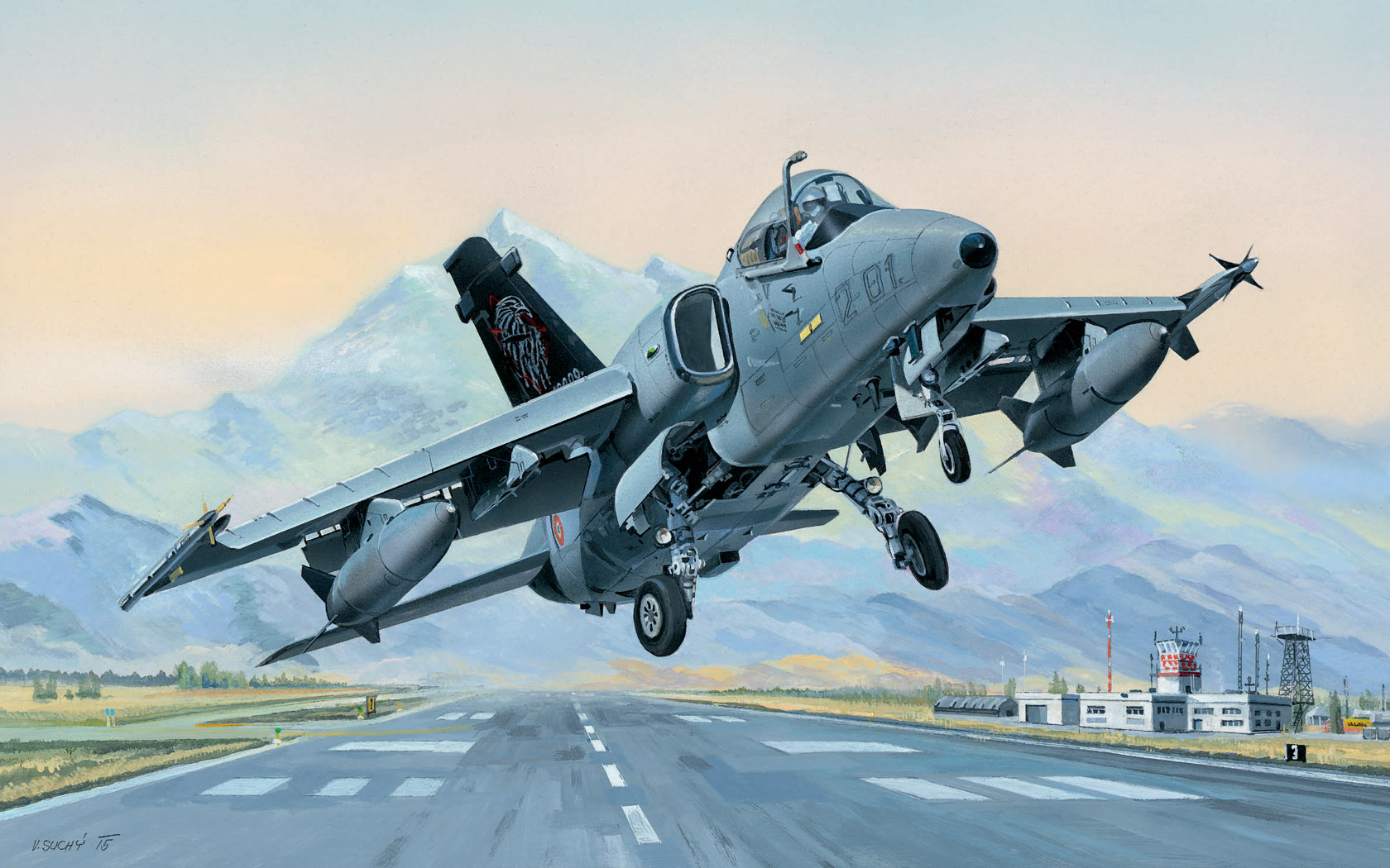 рисунок AMX Ground Attack Aircraft