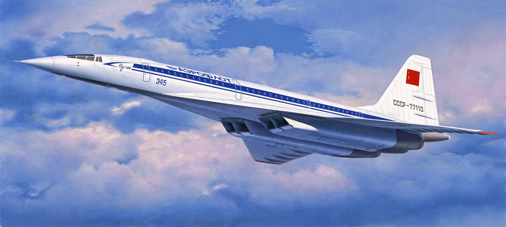 рисунок Туполев Ту-144