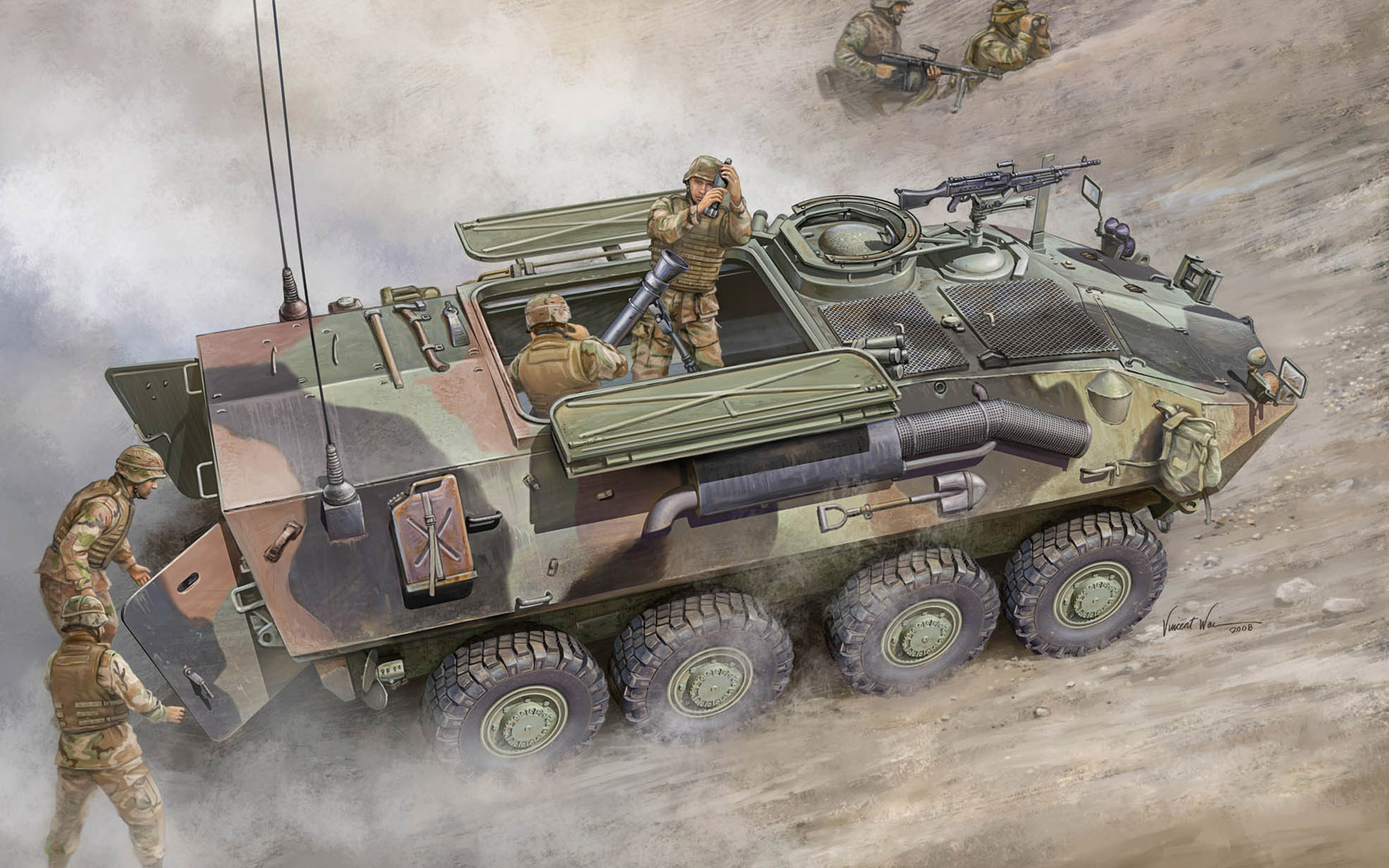 рисунок LAV-M Mortar Carrier Vehicle