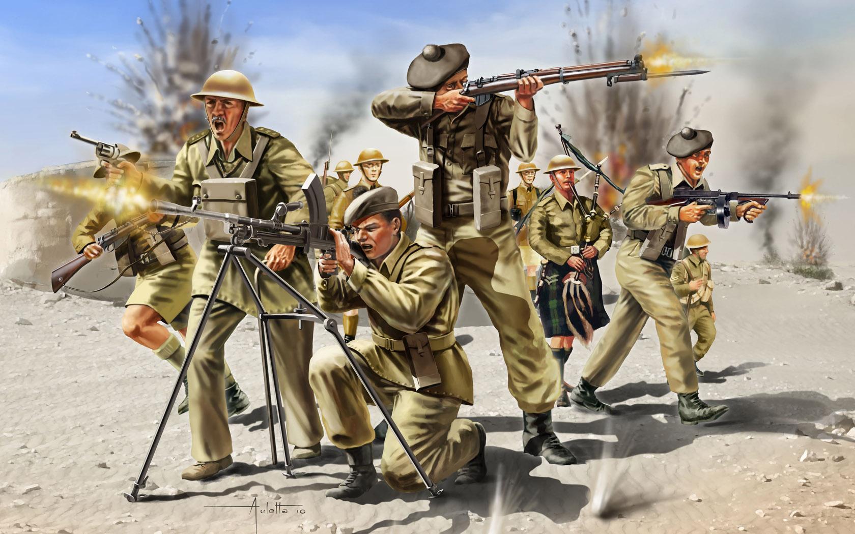 рисунок шотландская пехота