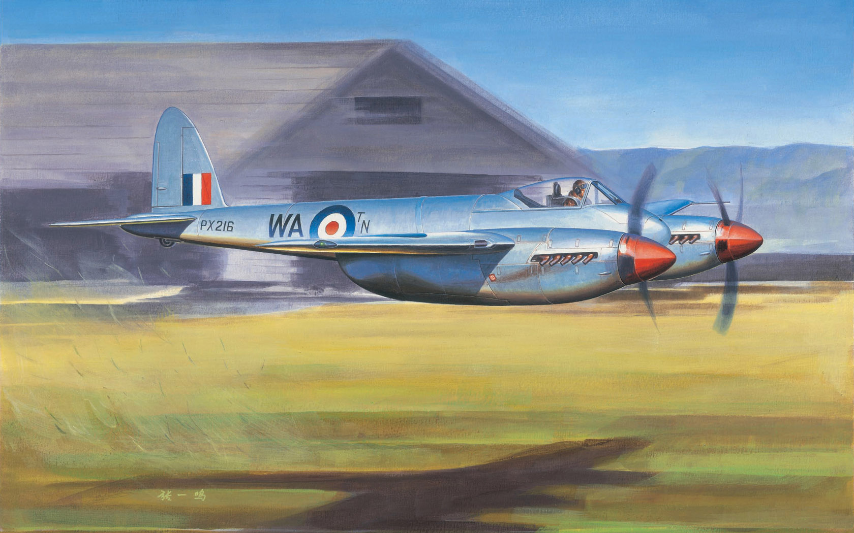 рисунок De Havilland Hornet F.1