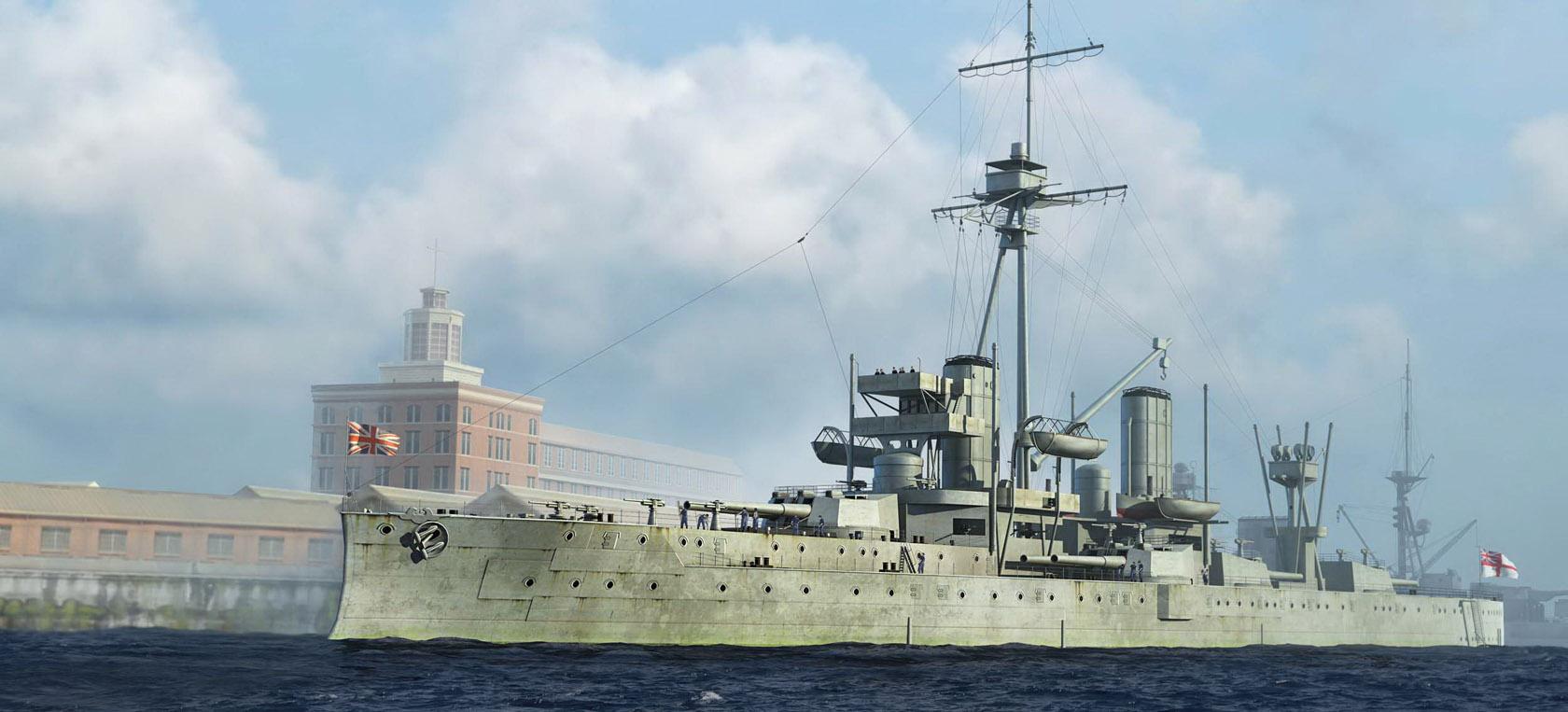 рисунок HMS Dreadnought 1918