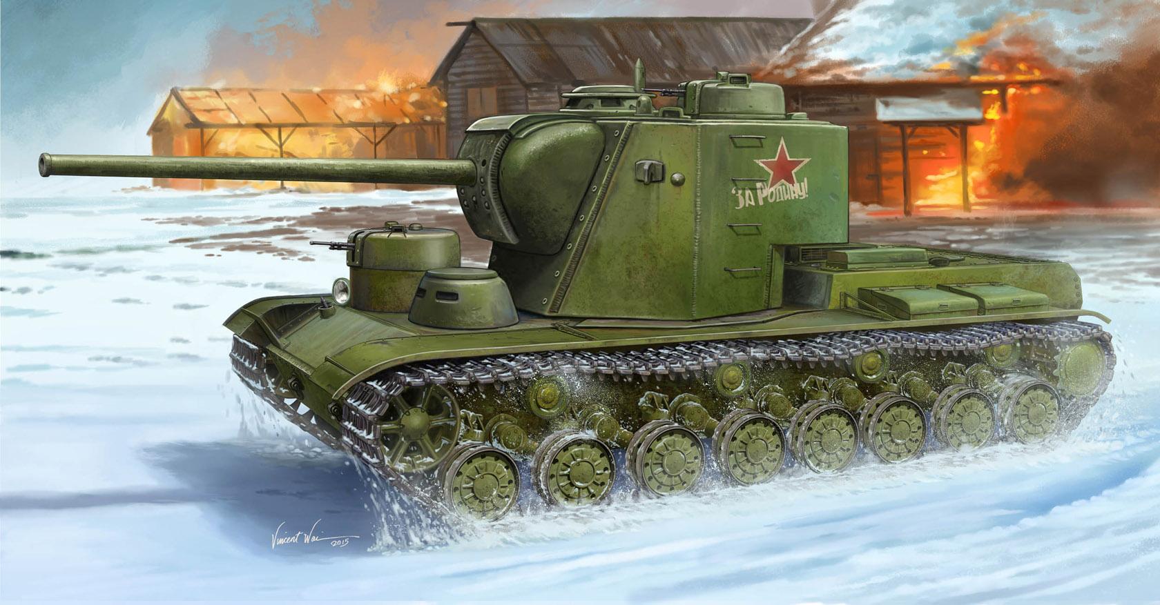 рисунок танк КВ-5