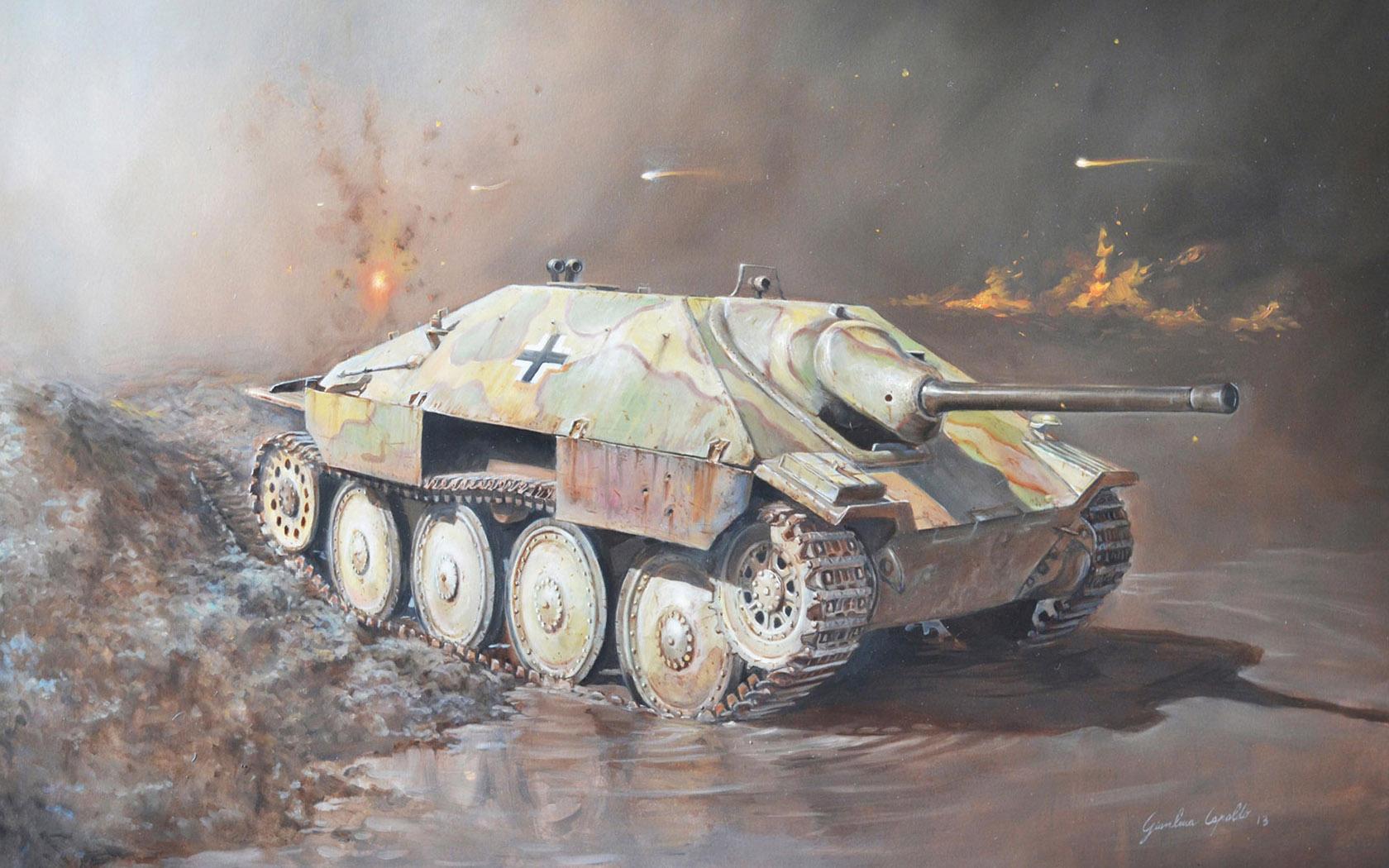 рисунок Jagdpanzer 38 (t) Hetzer