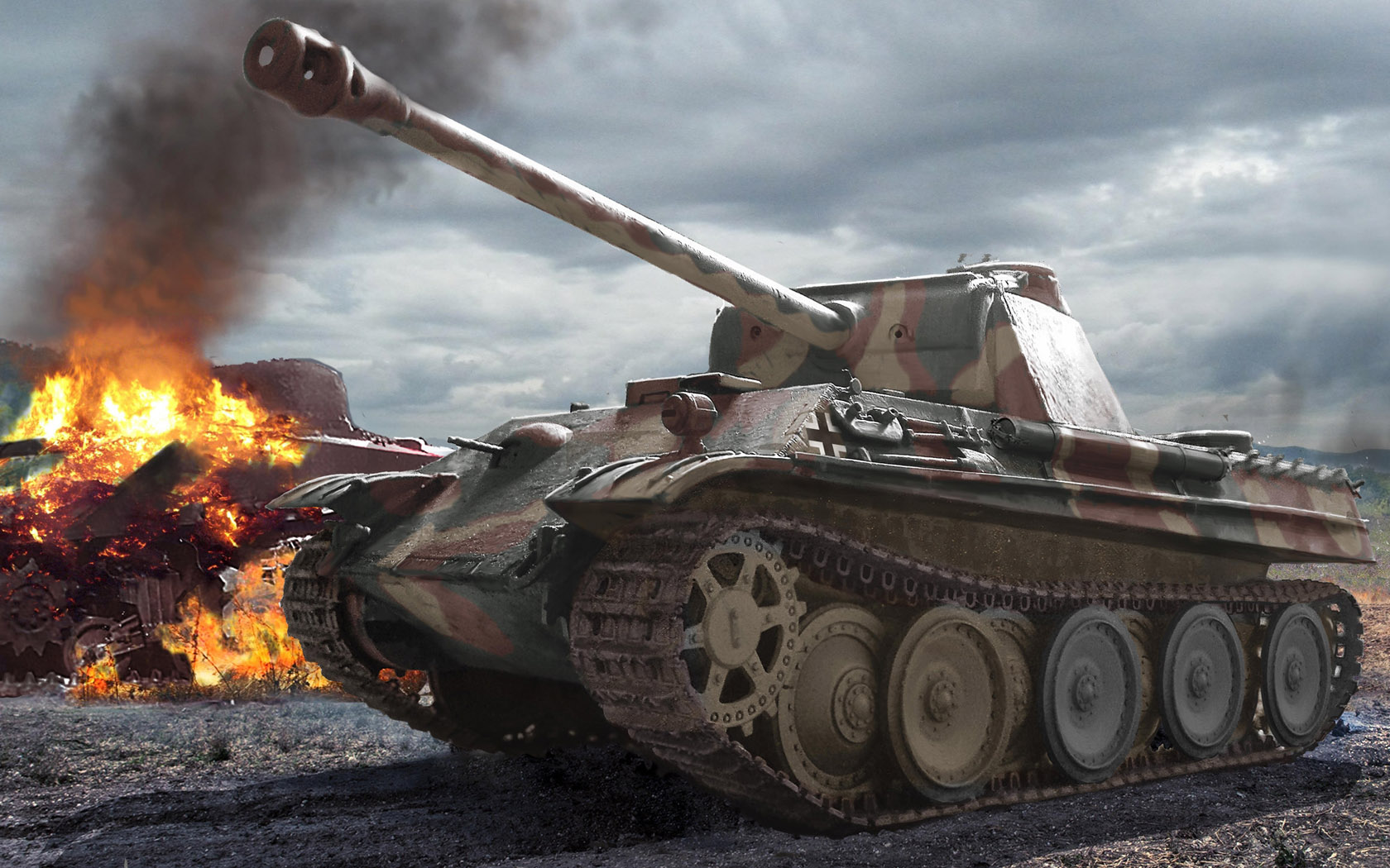 рисунок Panther Ausf. G