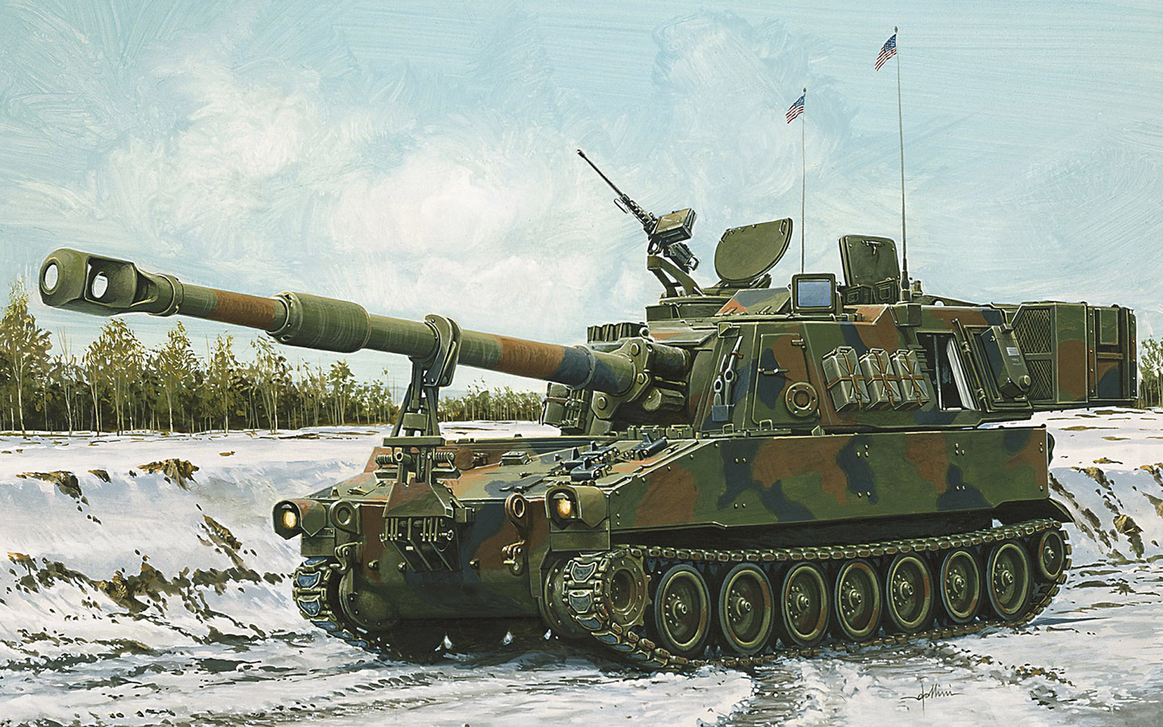 рисунок M109A6 Paladin