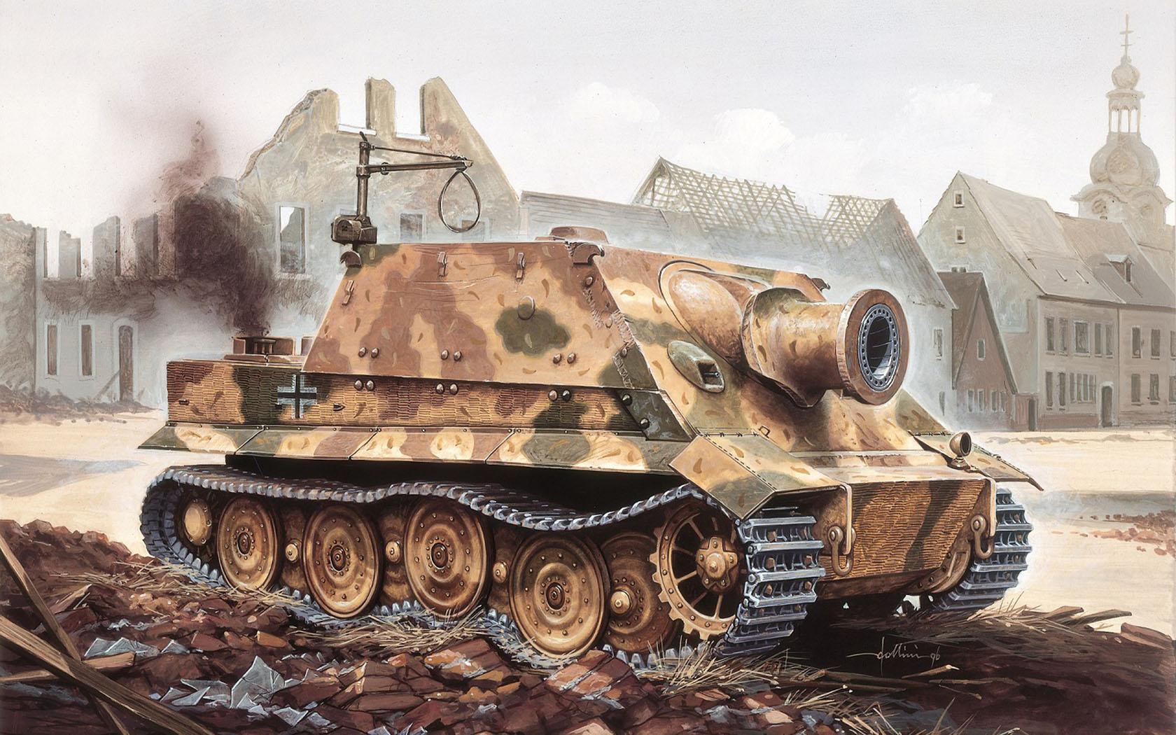 рисунок Sturmmorser Tiger